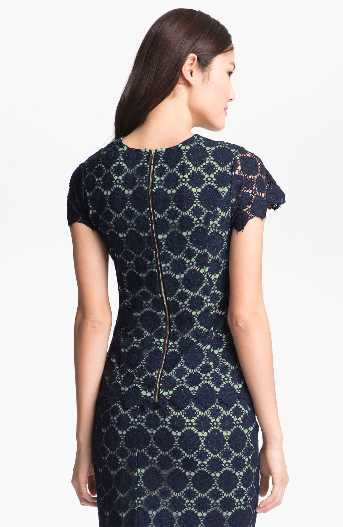 Alternate Image 2  - Vince Camuto Crochet Lace Top