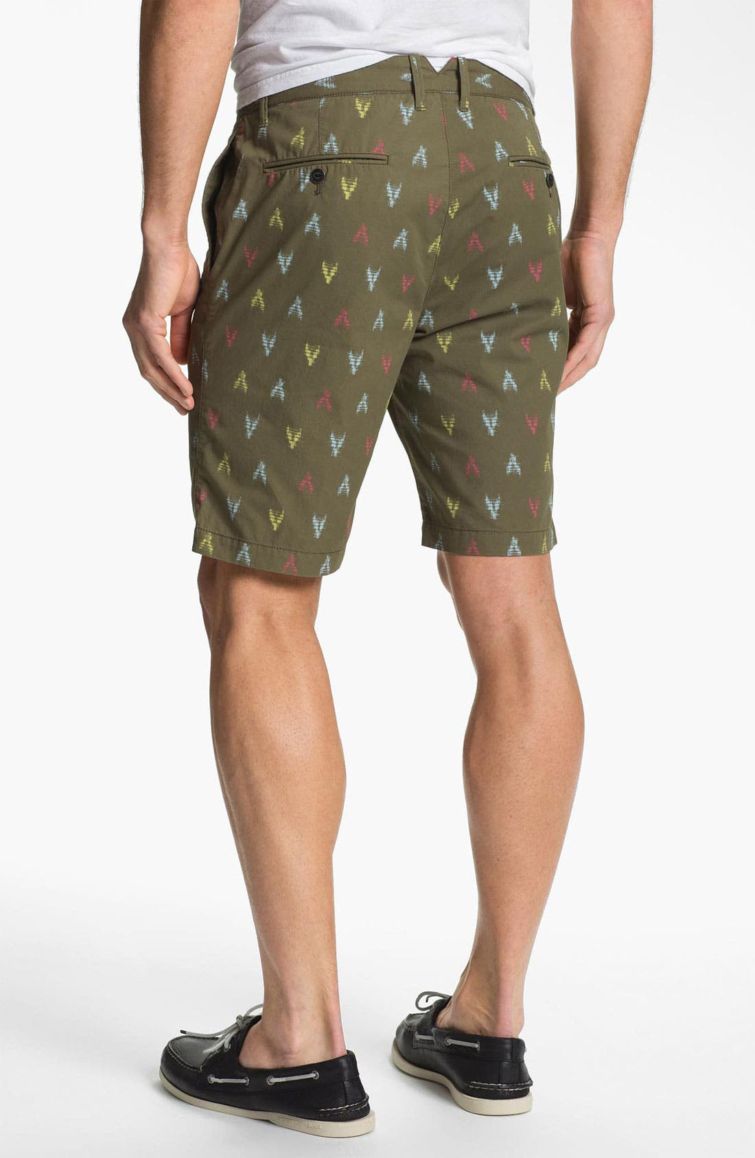 Alternate Image 2  - Original Penguin Print Flat Front Shorts
