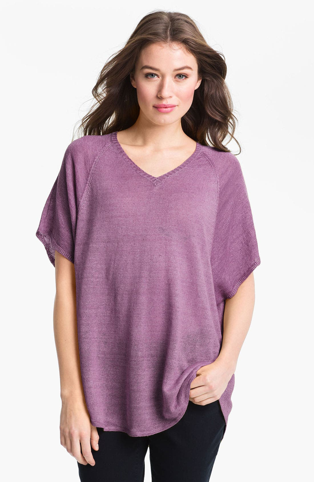 Main Image - Eileen Fisher 'Delave' Linen V-Neck Tunic