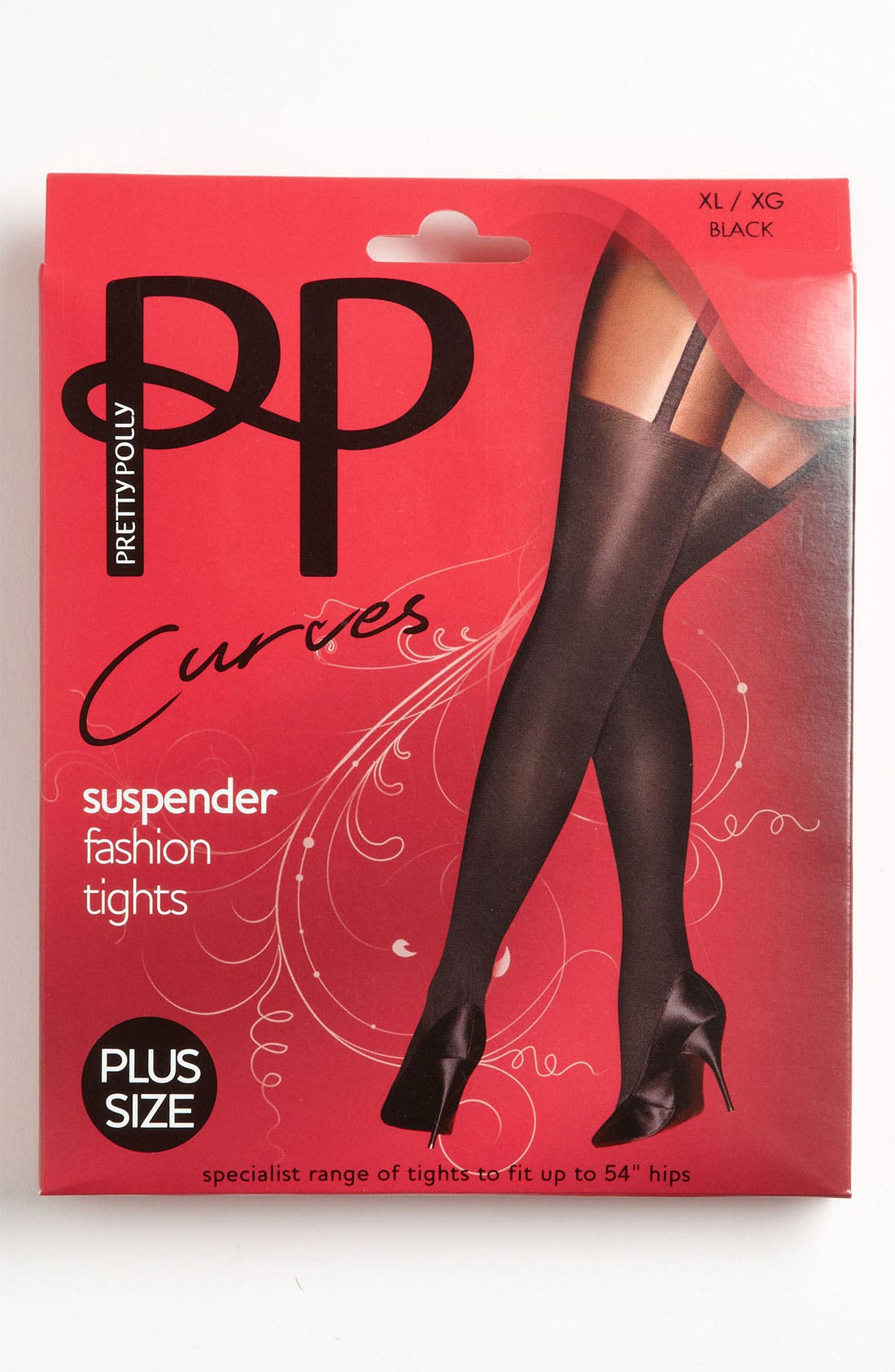 Alternate Image 2  - Pretty Polly 'Curves - Suspender' Tights (Plus Size)
