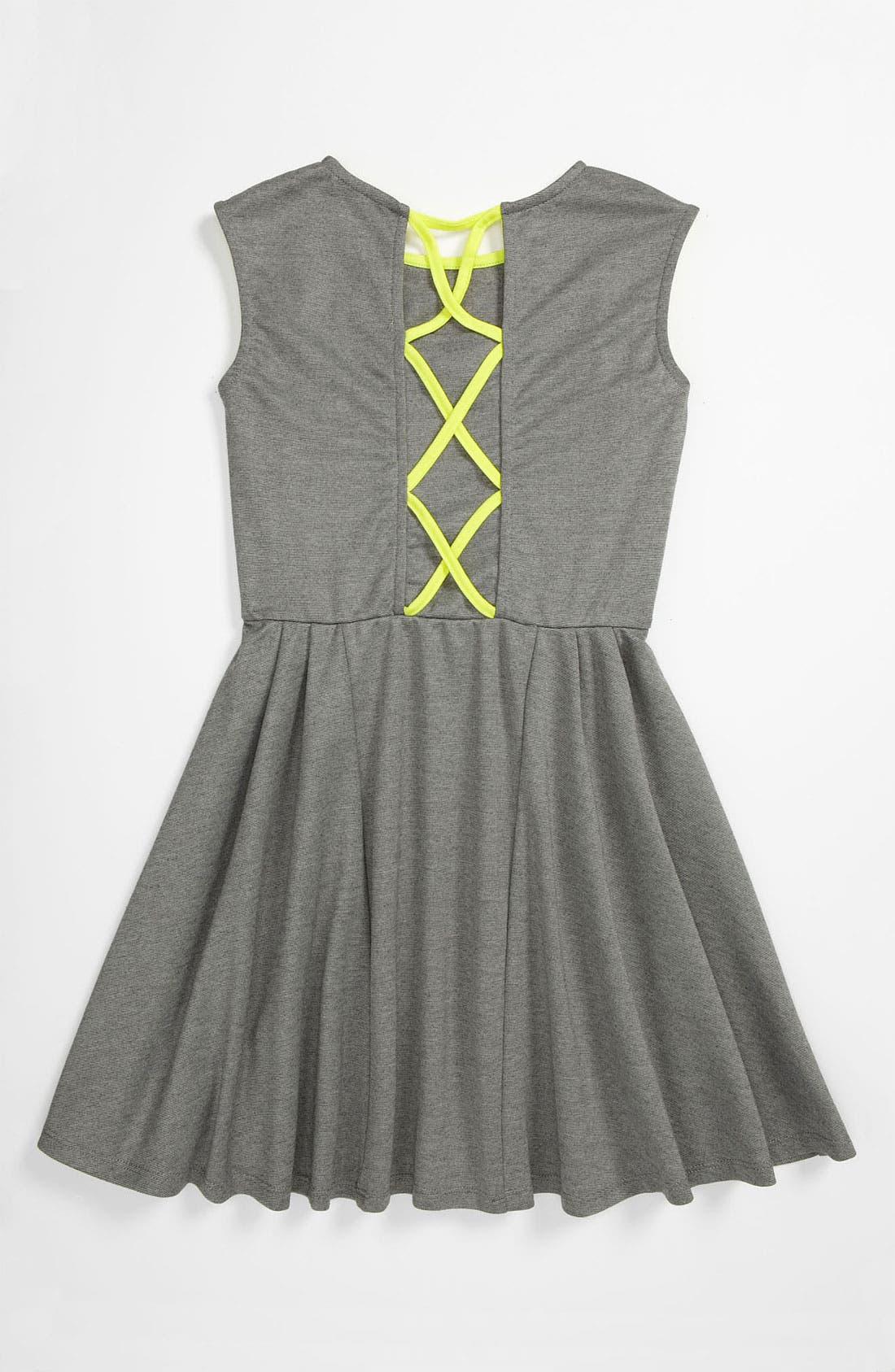 Alternate Image 2  - W Girl Neon Trim Dress (Big Girls)