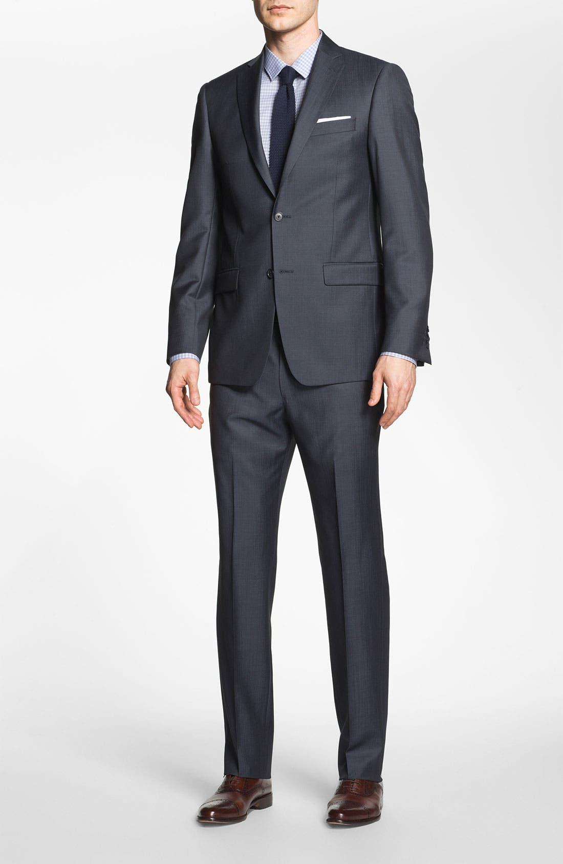 Alternate Image 2  - Michael Kors Trim Fit Twill Suit