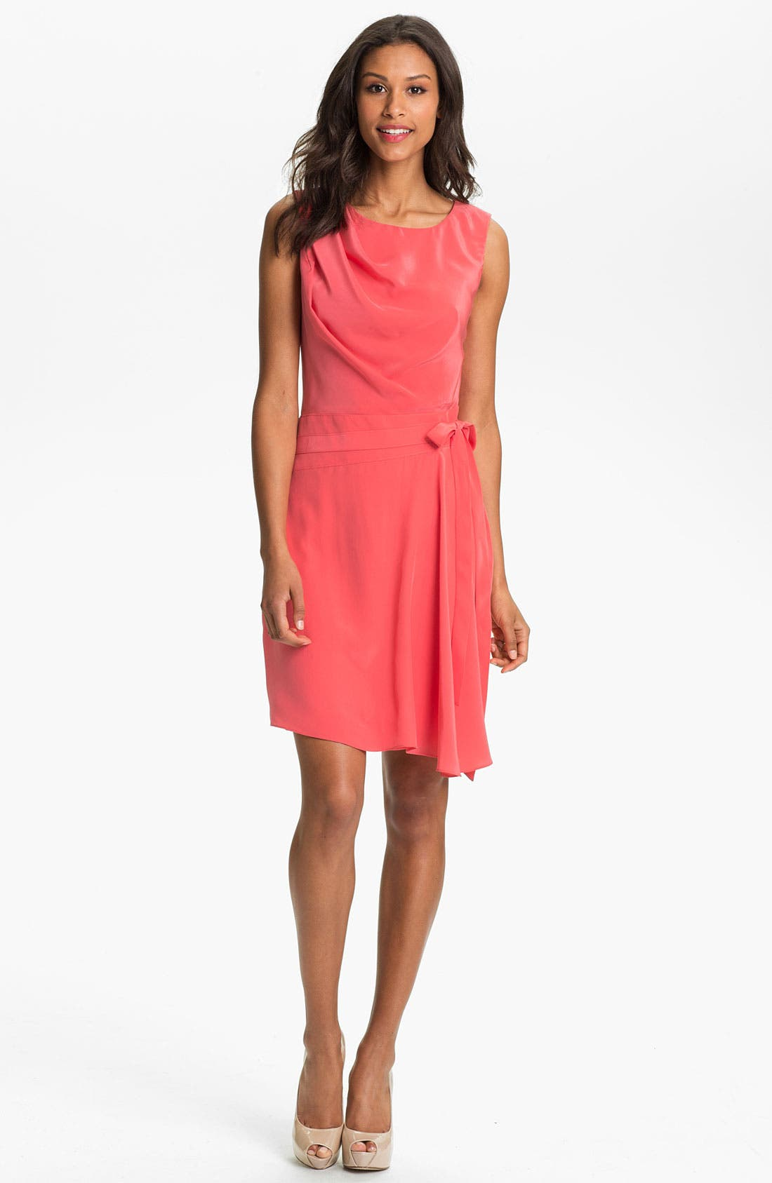 Main Image - Suzi Chin Maggy Boutique Draped Faux Wrap Dress