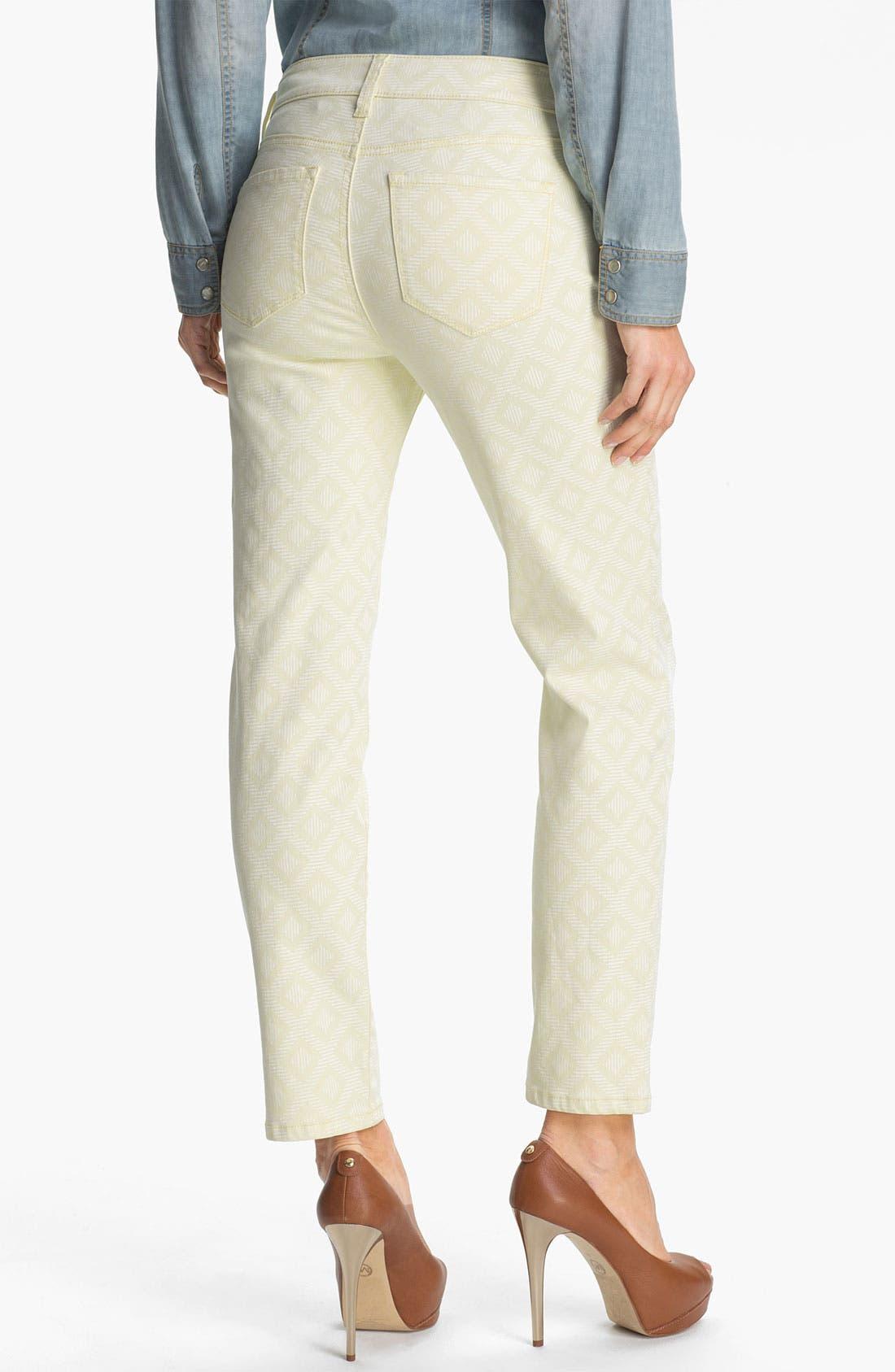 Alternate Image 3  - NYDJ 'Alisha - Jacquard' Skinny Stretch Ankle Jeans