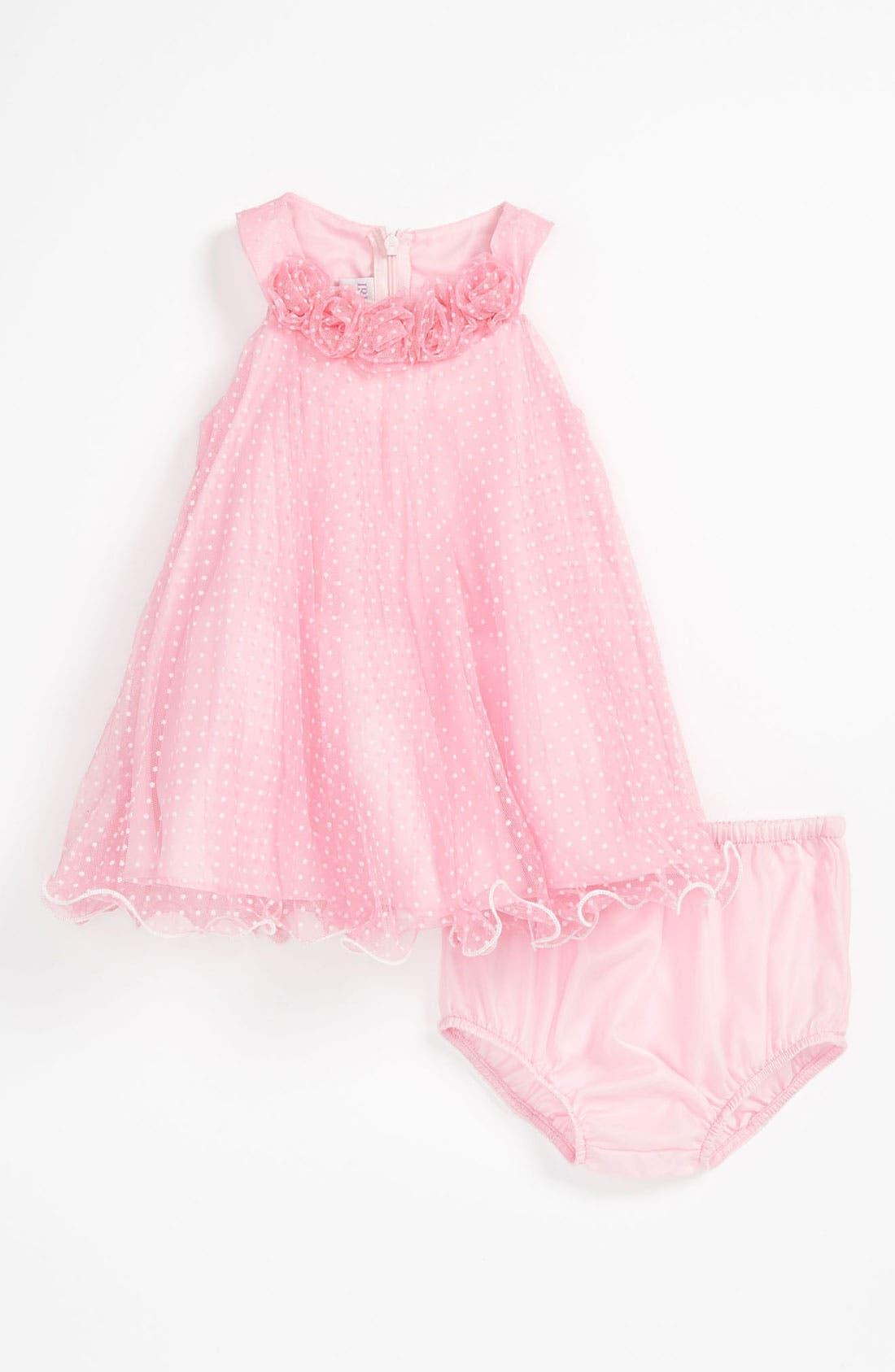 Main Image - Iris & Ivy Trapeze Dress & Bloomers (Baby Girls)