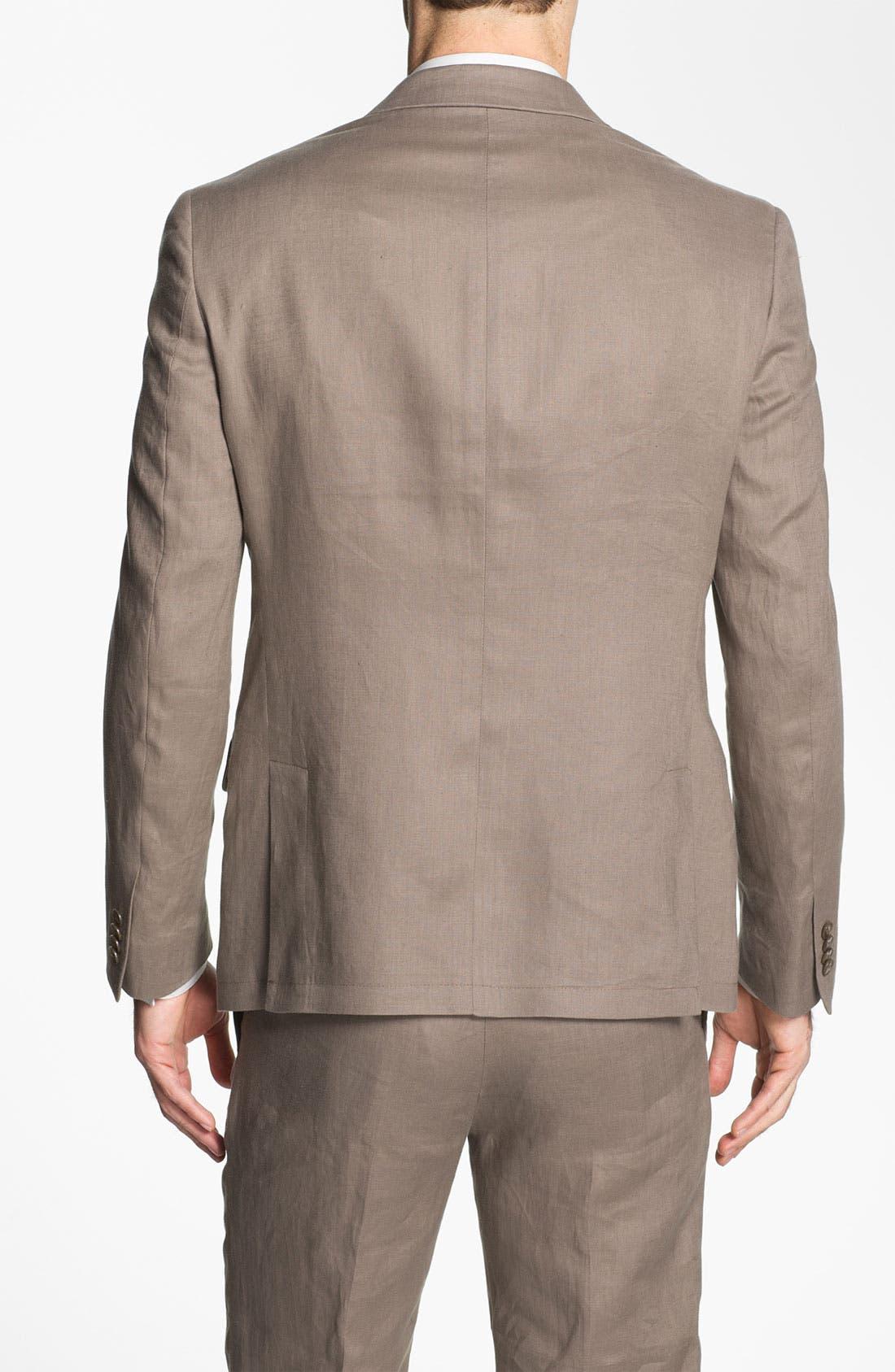 Alternate Image 2  - John Varvatos Star USA Red Label Peak Lapel Linen Blazer