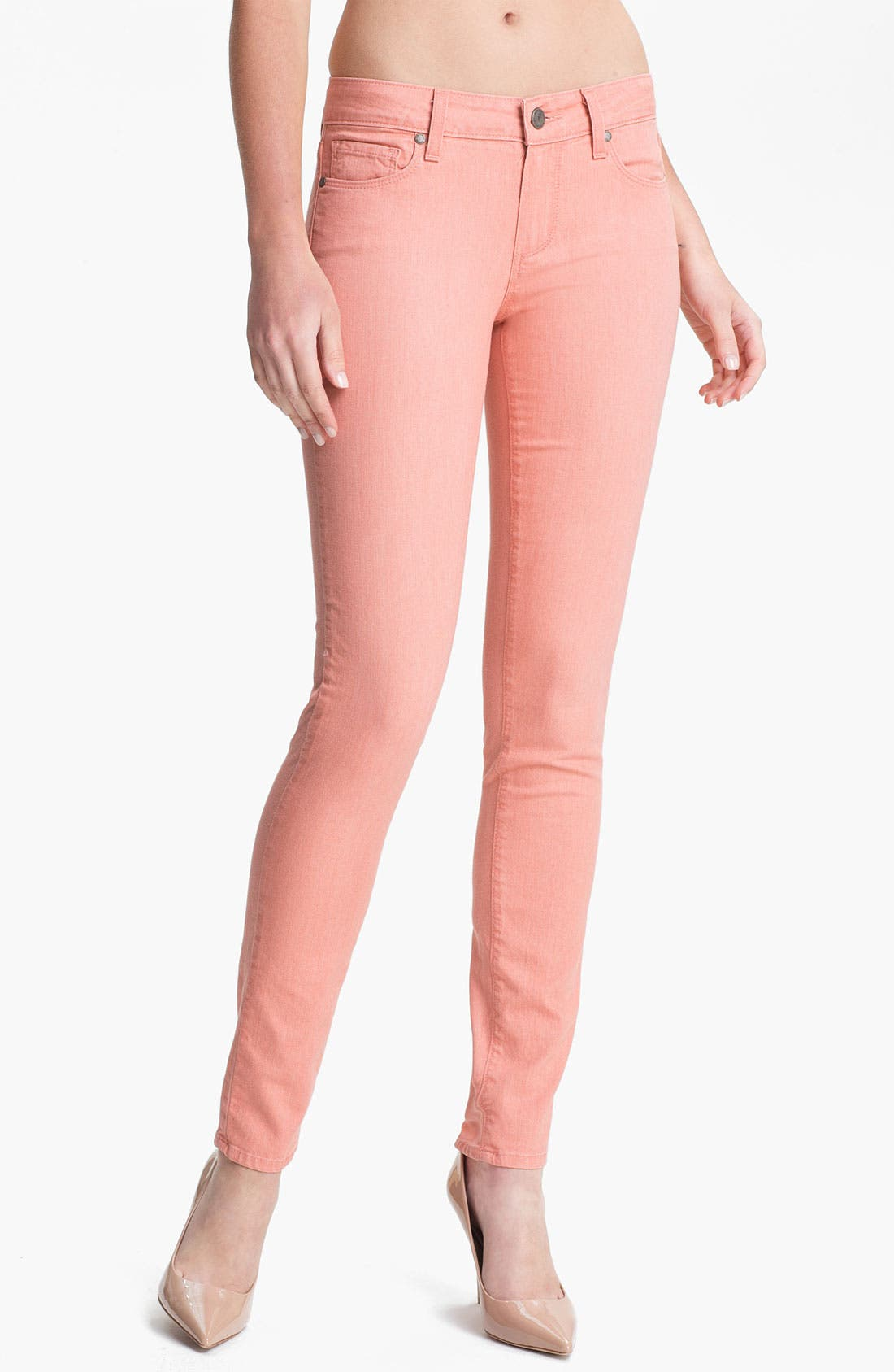 Main Image - Paige Denim 'Verdugo' Skinny Stretch Jeans (Peach)