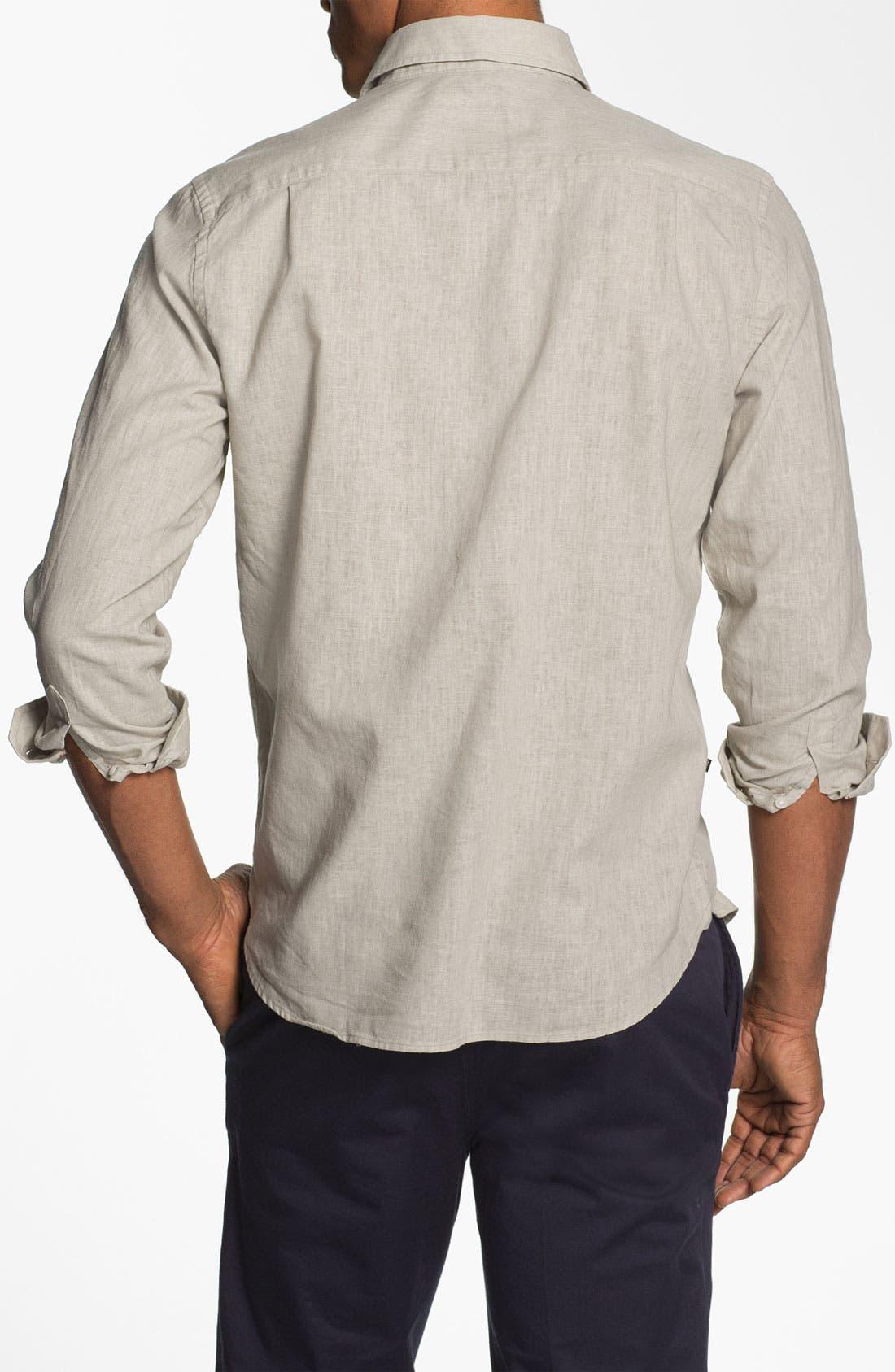 Alternate Image 2  - Victorinox Swiss Army® 'Villamont' Linen Blend Sport Shirt (Online Only)