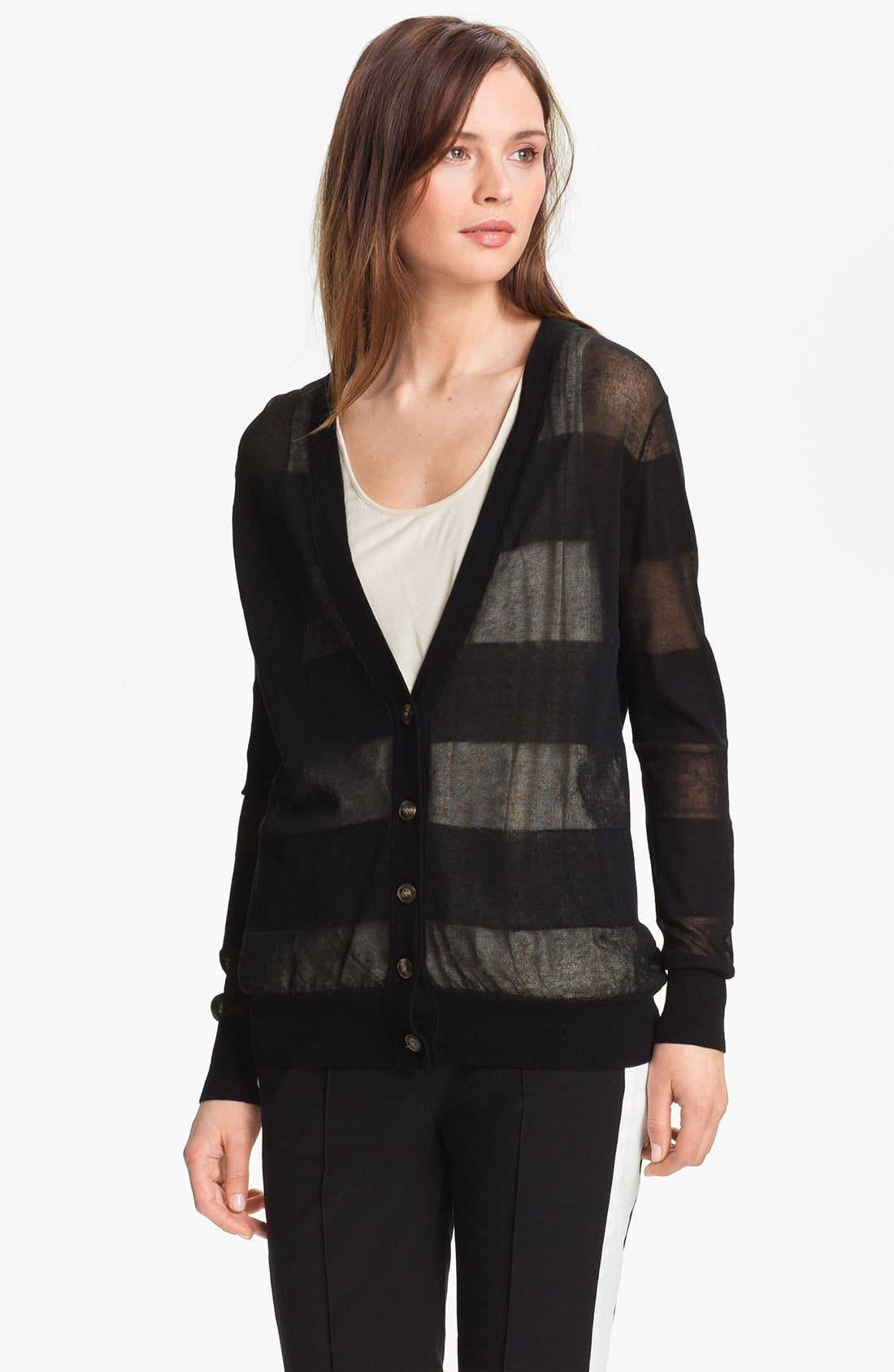 Alternate Image 3  - Halston Heritage Sheer Cardigan