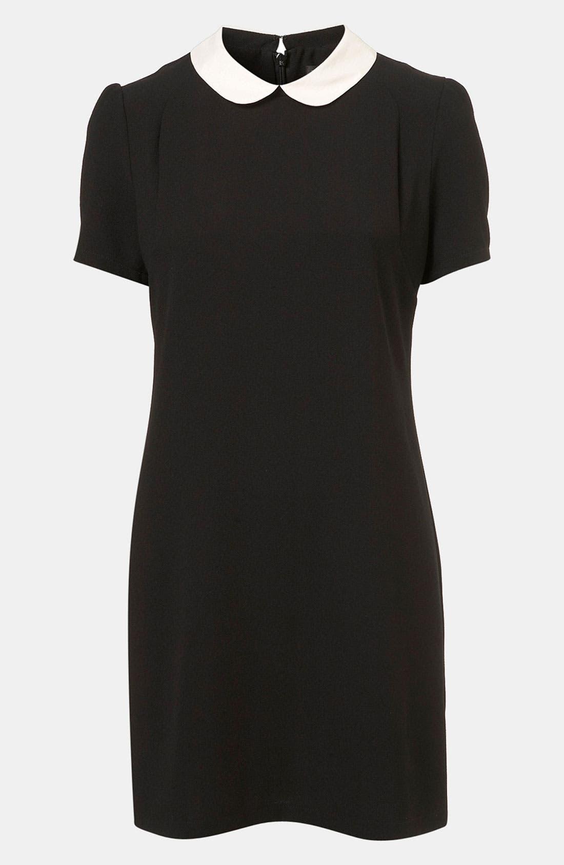 Main Image - Topshop Contrast Collar Shift Dress