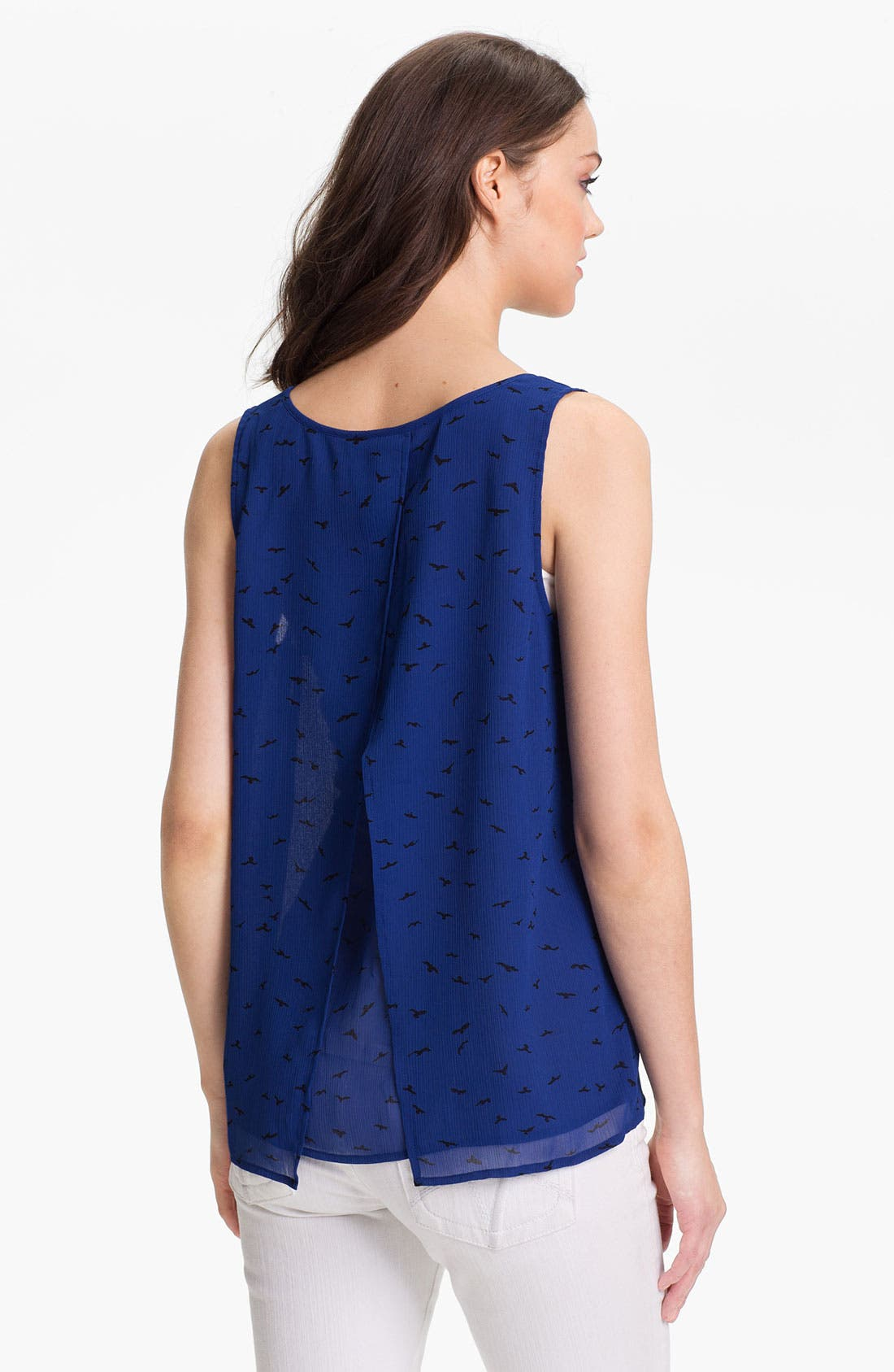 Alternate Image 2  - Caslon® Envelope Back Woven Tank
