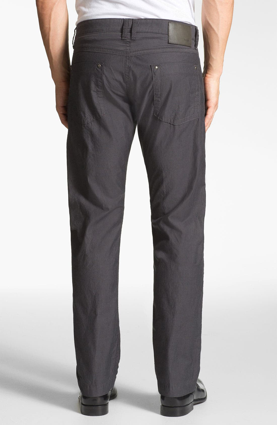 Alternate Image 2  - BOSS Black 'Michigan' Slim Fit Straight Leg Pants