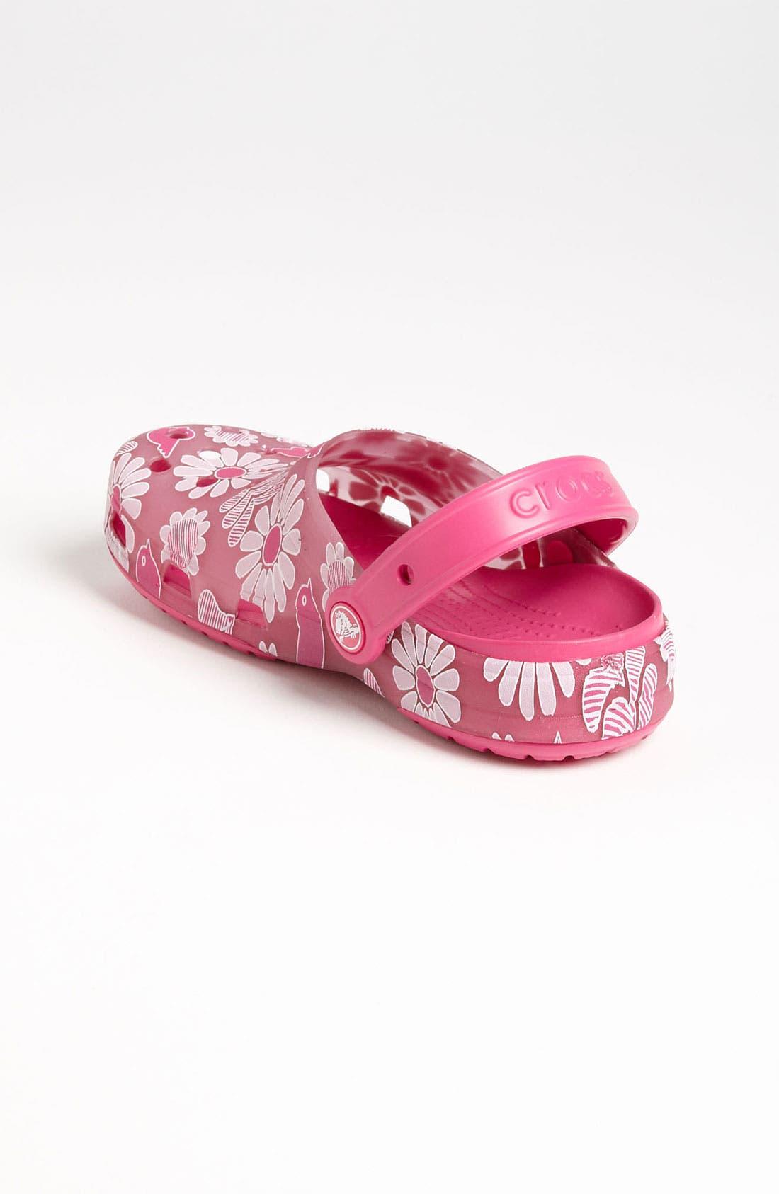 Alternate Image 2  - CROCS™ 'Chameleon Floral' Slip-On (Walker, Toddler & Little Kid)