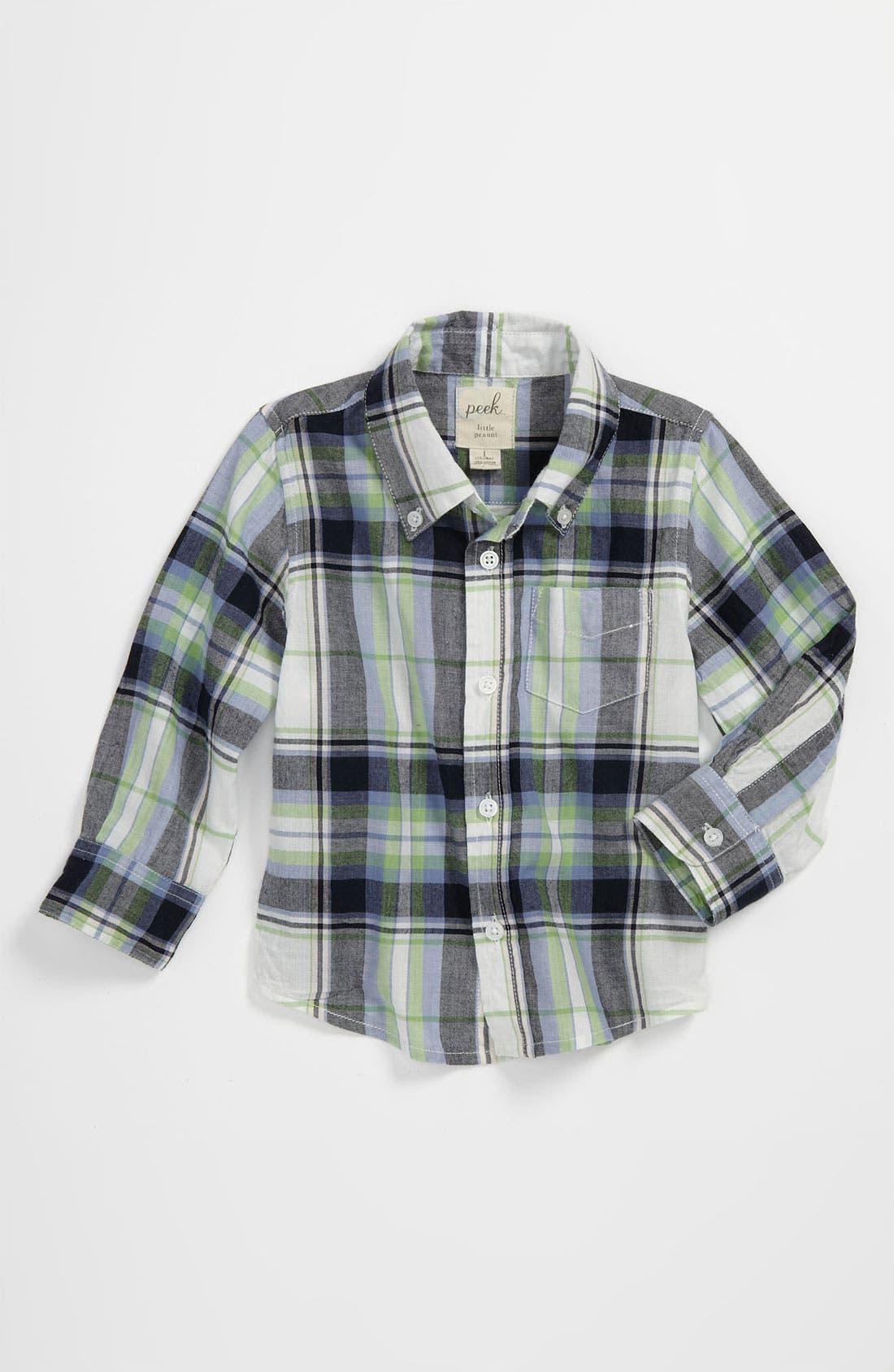 Alternate Image 1 Selected - Peek 'Easter Plaid' Shirt (Baby)