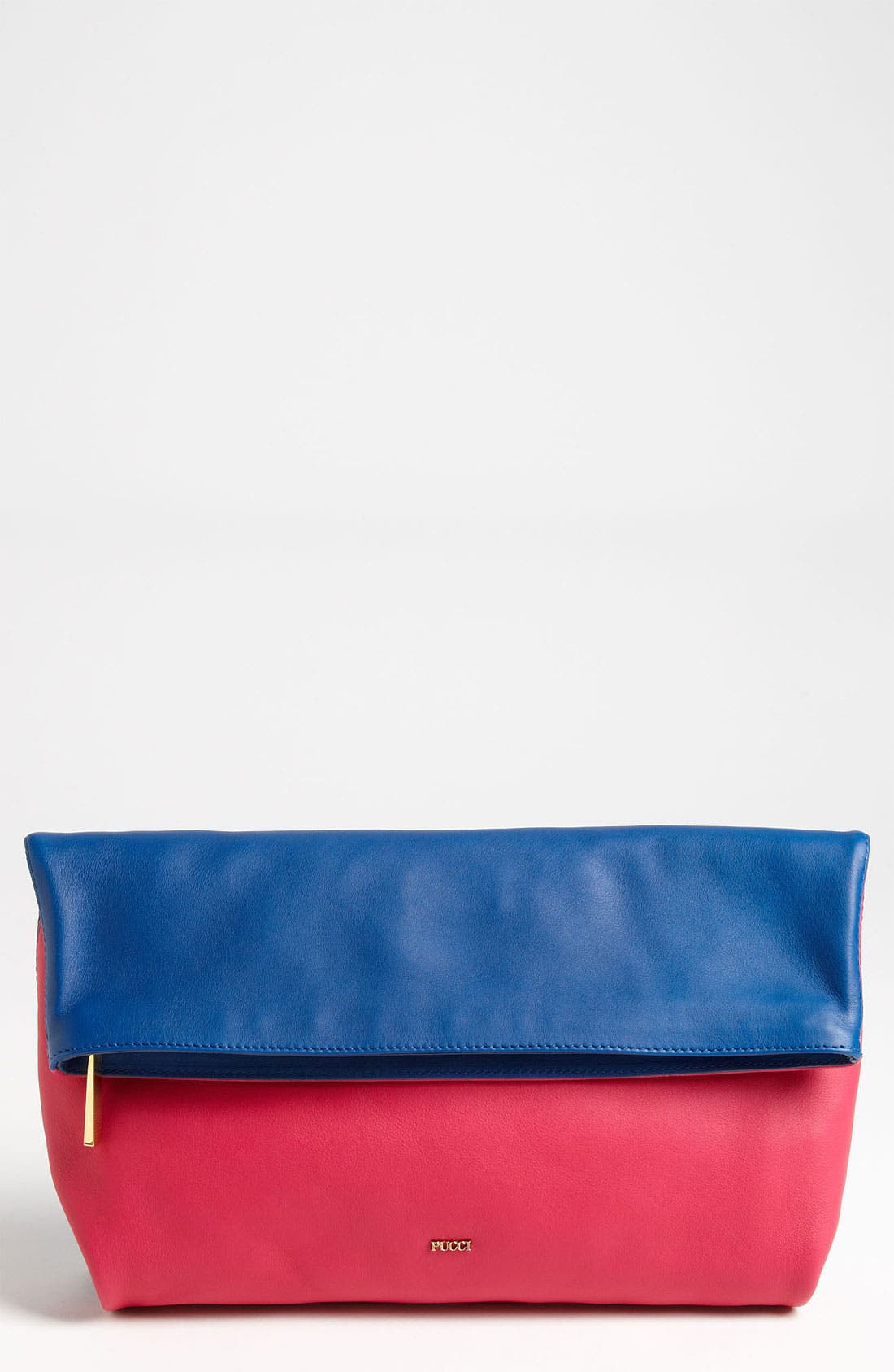 Main Image - Emilio Pucci 'Softy - Bicolor' Foldover Clutch