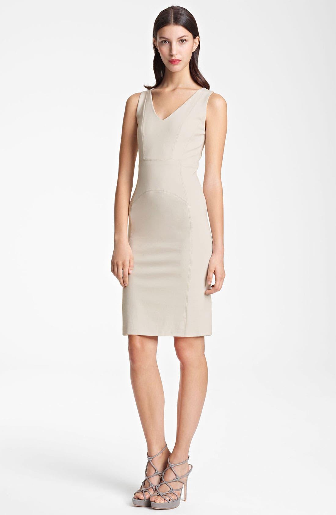 Main Image - Armani Collezioni Seamed Jersey Dress
