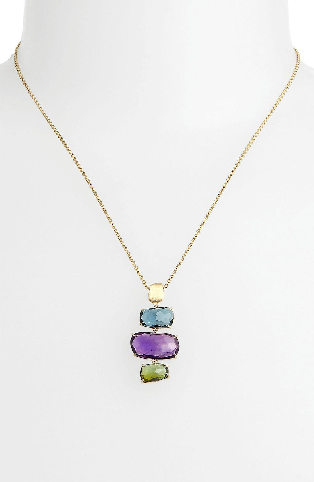 Alternate Image 1 Selected - Marco Bicego 'Murano' Mix Stone Cluster Pendant Necklace