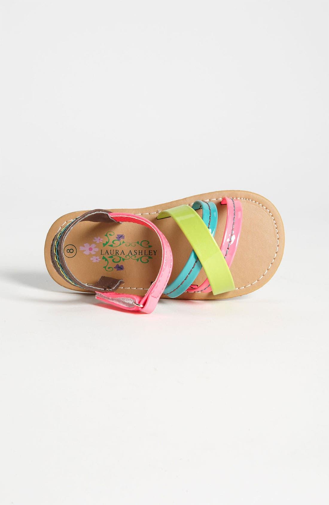 Alternate Image 3  - Laura Ashley 'Neon' Sandal (Walker & Toddler)