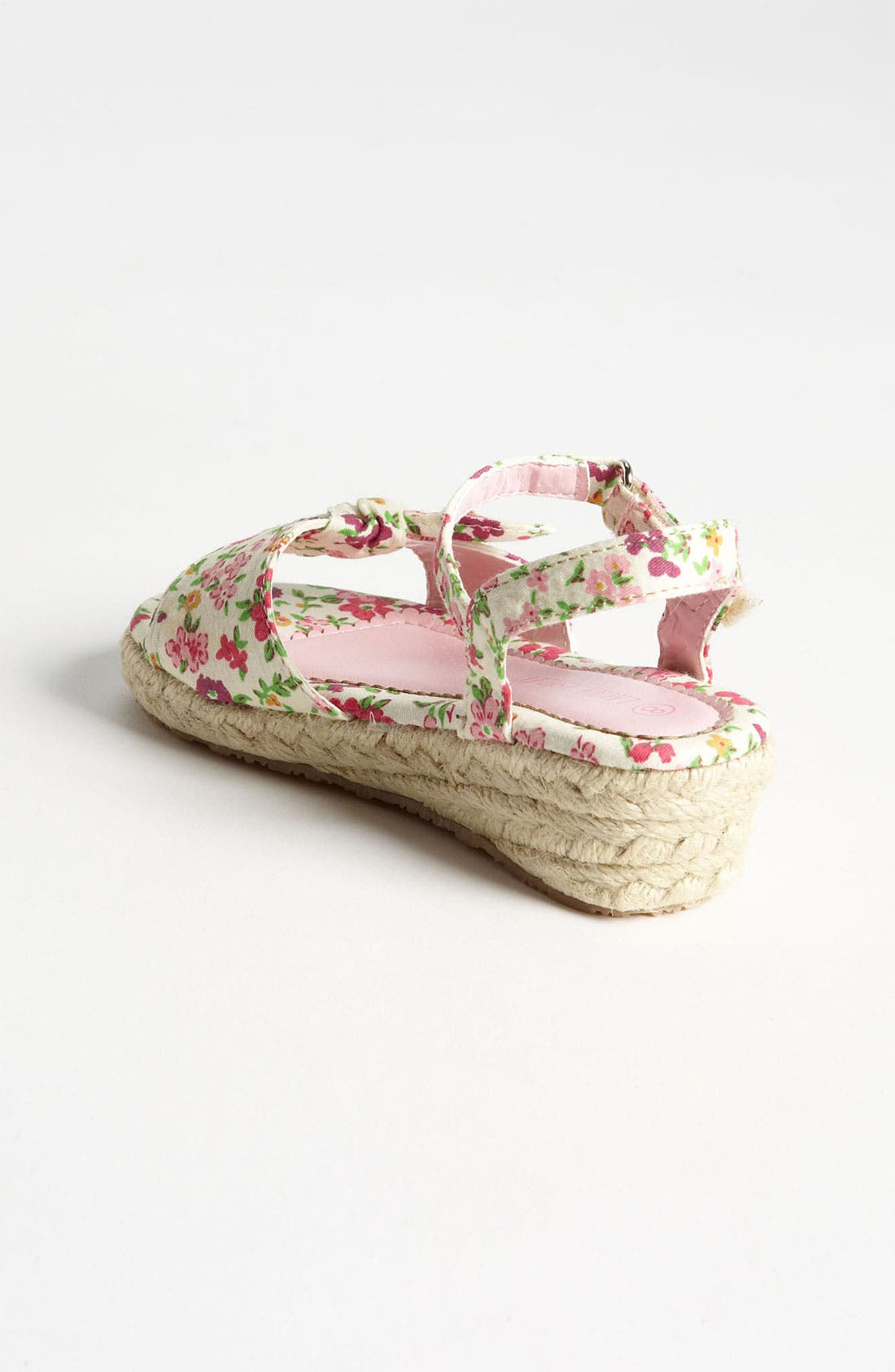Alternate Image 2  - Laura Ashley Flower Print Fabric Sandal (Walker & Toddler)