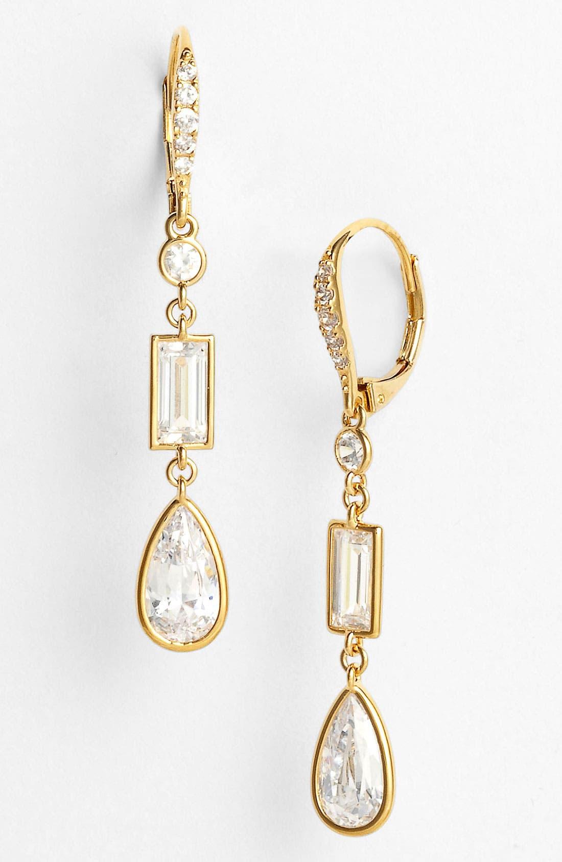 Alternate Image 1 Selected - Nadri Mixed Cut Cubic Zirconia Earrings (Nordstrom Exclusive)