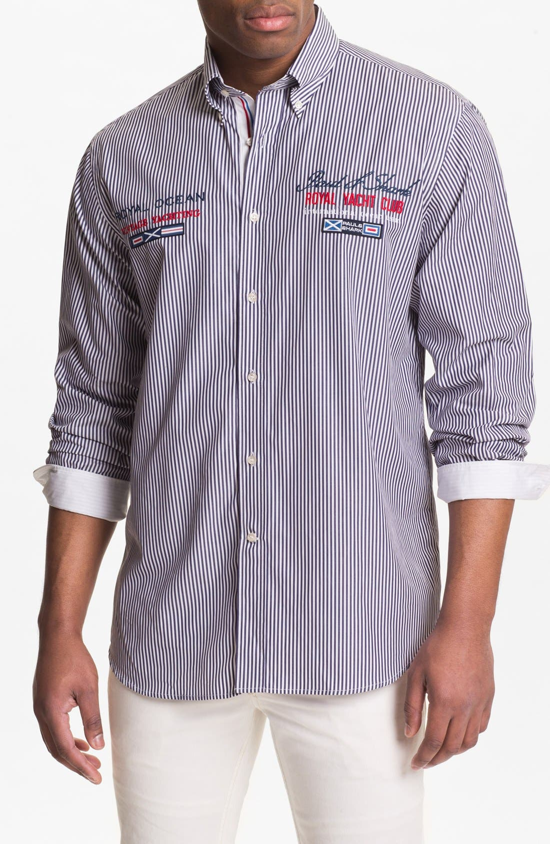 Alternate Image 1 Selected - Paul & Shark Pinstripe Sport Shirt