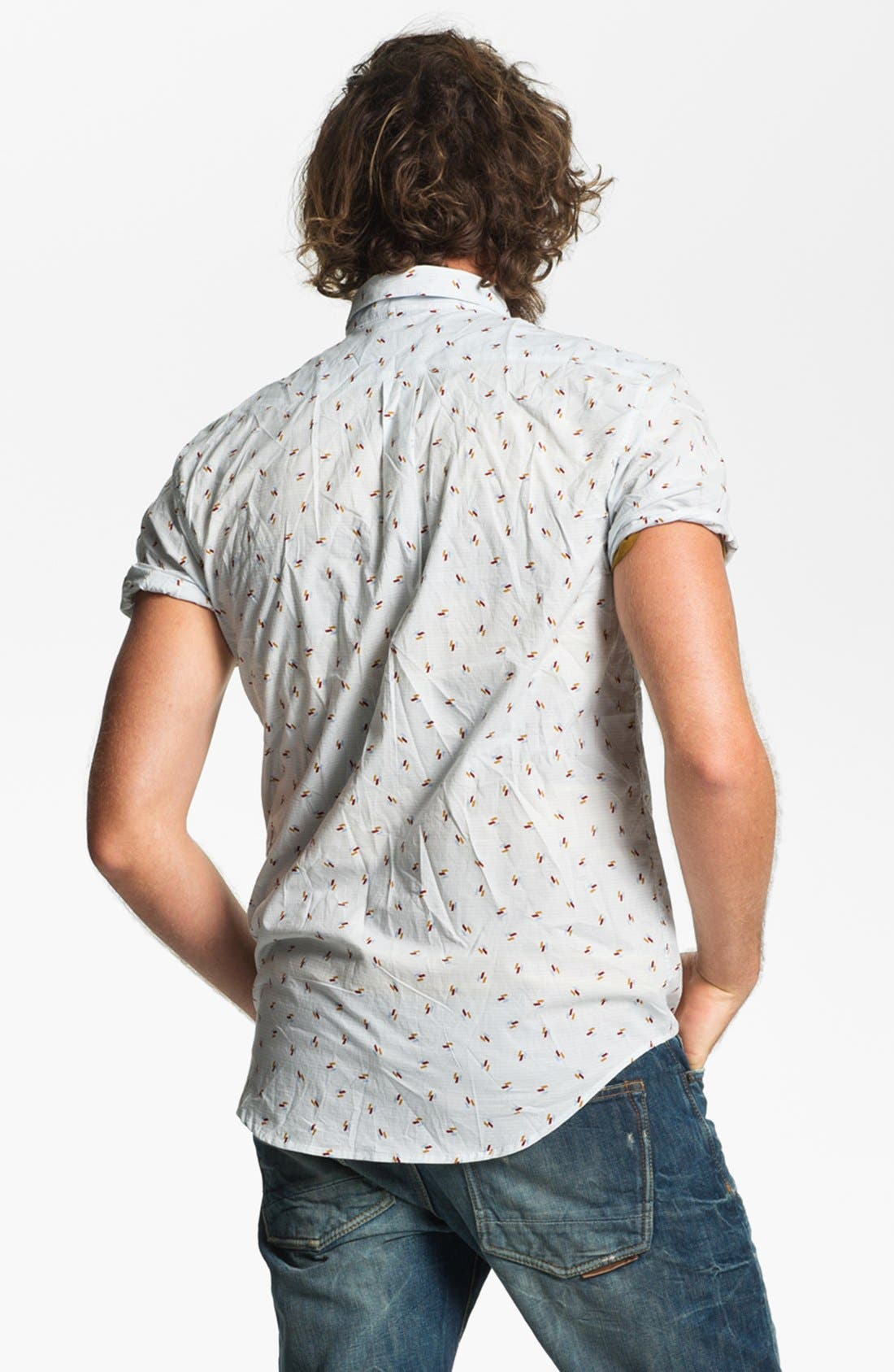 Alternate Image 3  - RVCA 'Avalon' Slim Fit Short Sleeve Sport Shirt