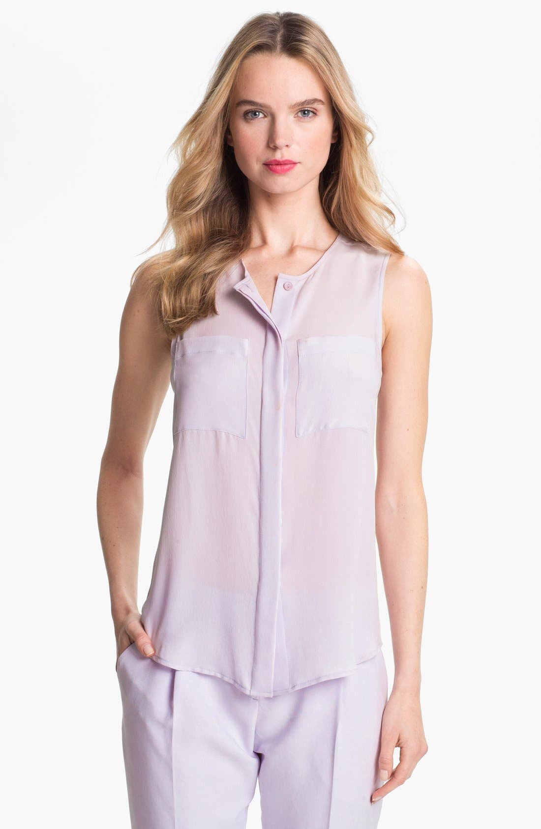 Main Image - Theory 'Eriel' Silk Top