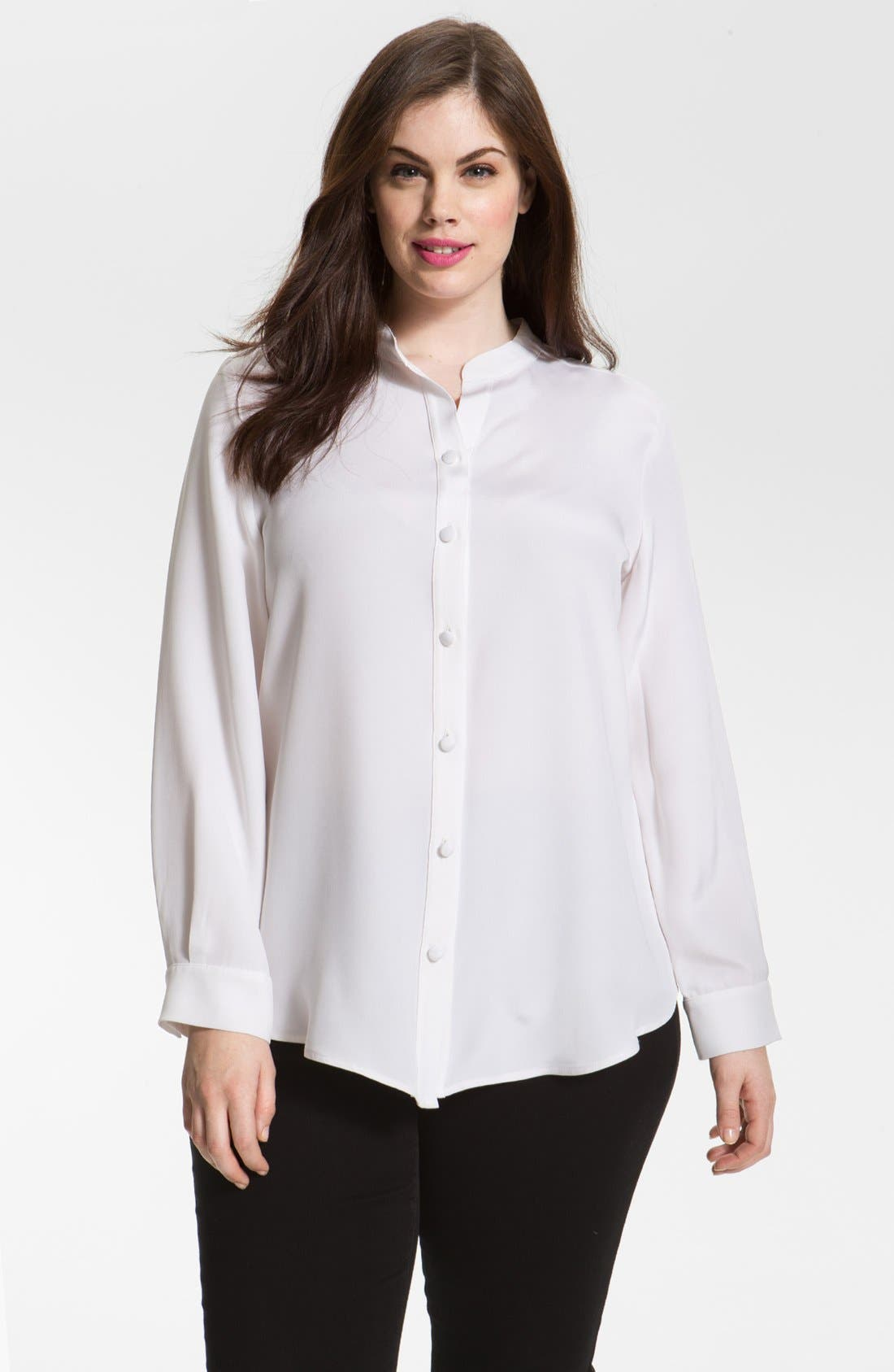 Alternate Image 1 Selected - Louben Silk Blouse (Plus)