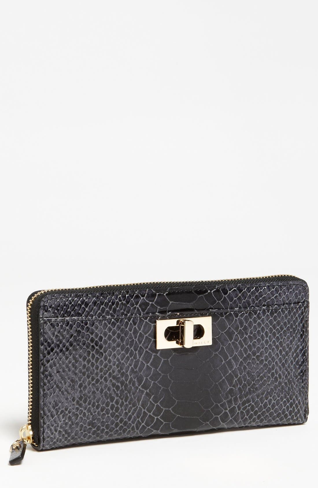 Main Image - Milly 'Claudia' Snake Embossed Wallet