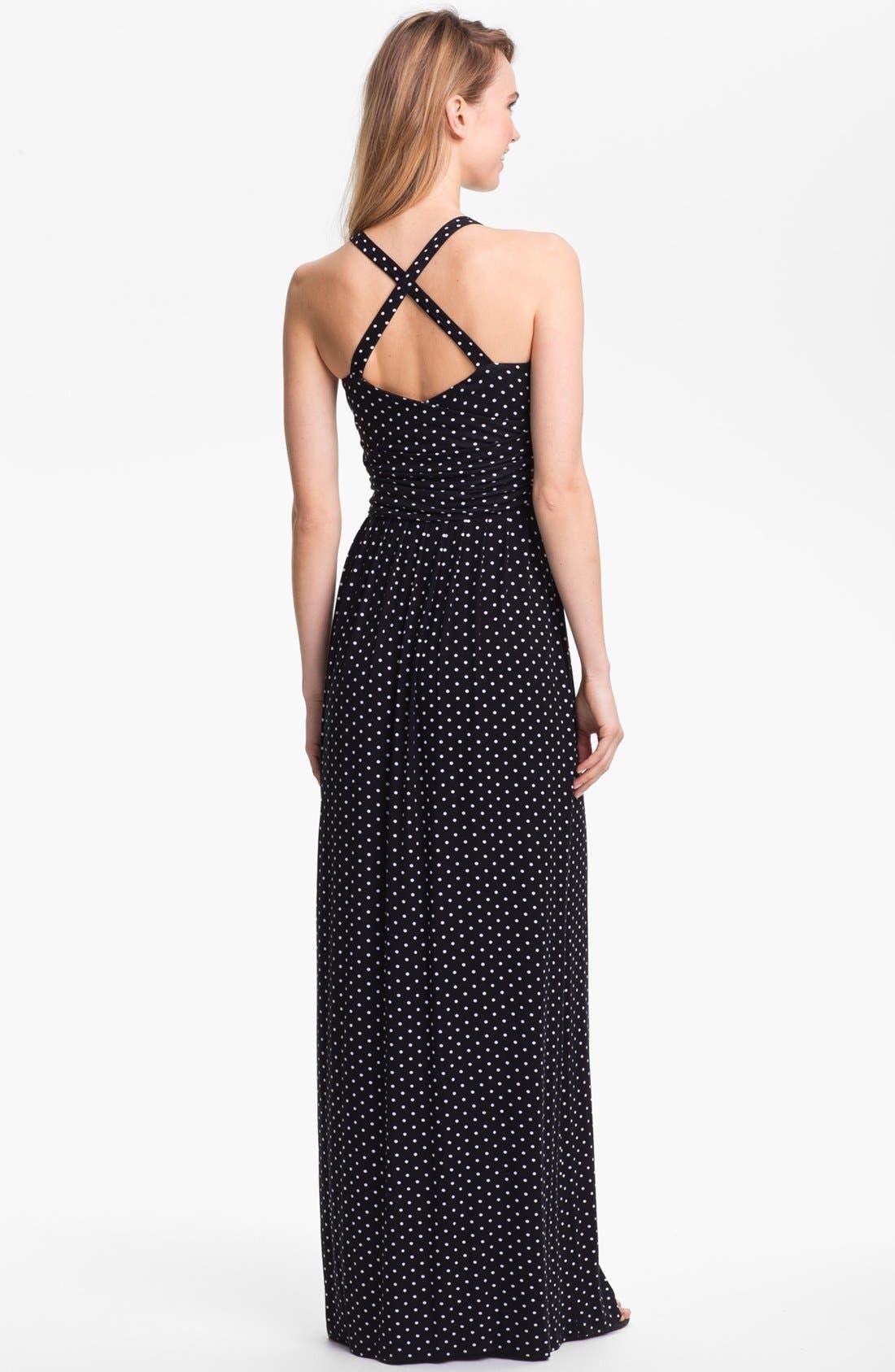 Alternate Image 2  - Vince Camuto Polka Dot Halter Maxi Dress