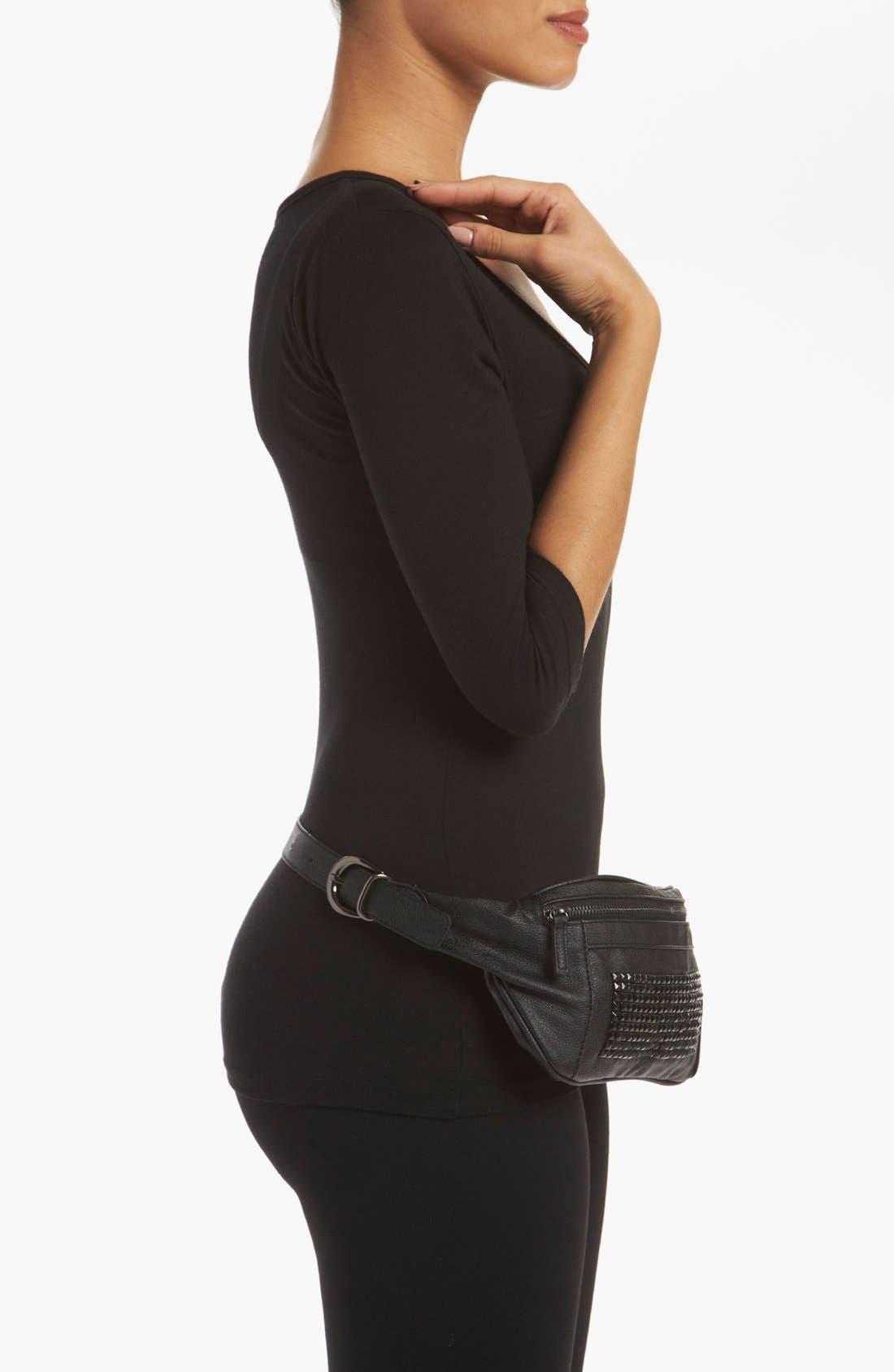 Alternate Image 2  - Topshop Studded Belt Bag