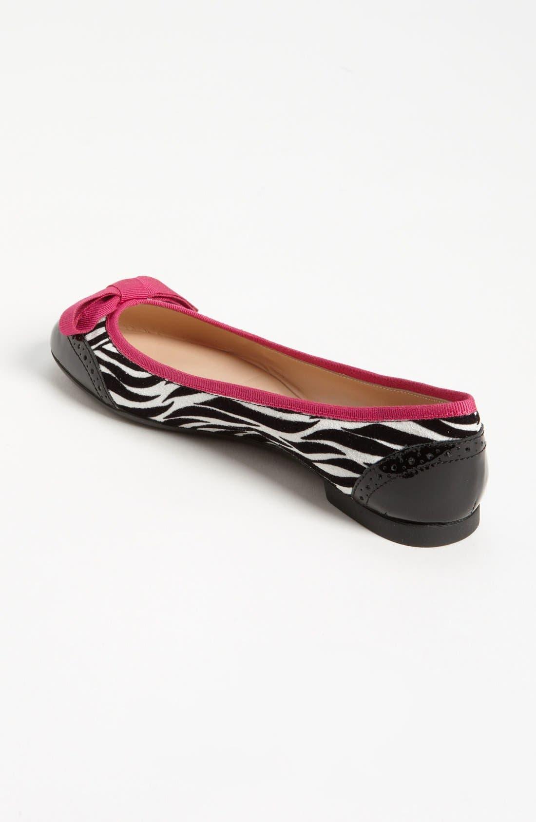 Alternate Image 2  - Sweet Ballerina 'Biancospino' Zebra Print Ballet Flat