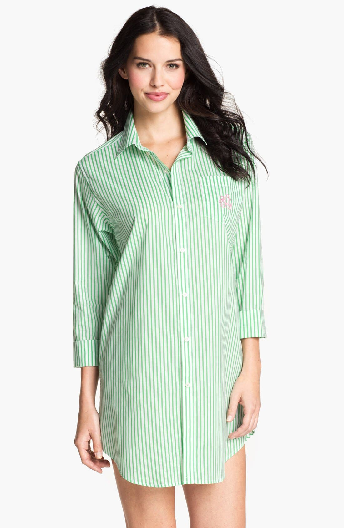 Alternate Image 1 Selected - Lauren Ralph Lauren Cuffed Nightshirt