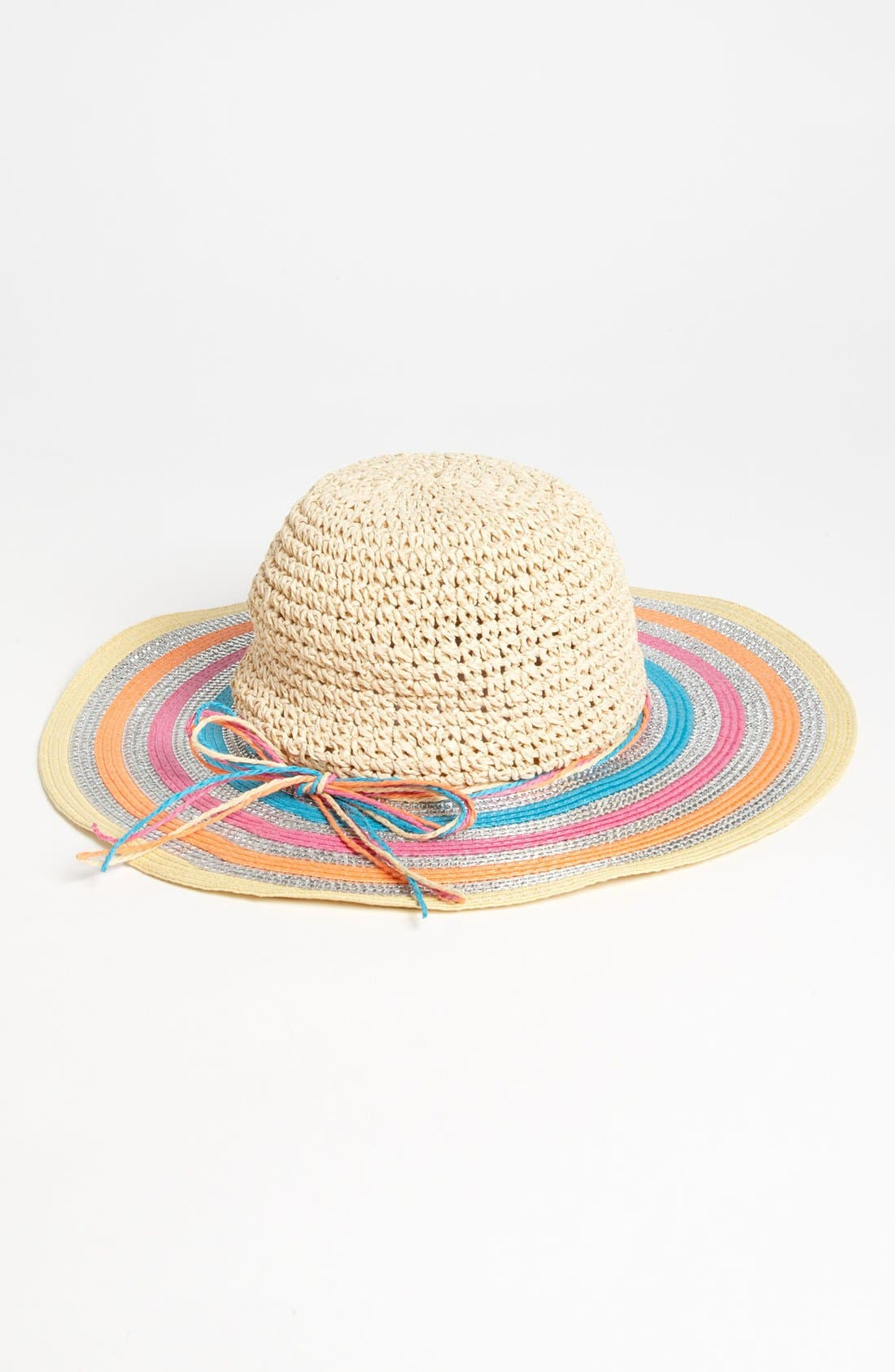 Alternate Image 1 Selected - Capelli of New York Floppy Hat (Girls)
