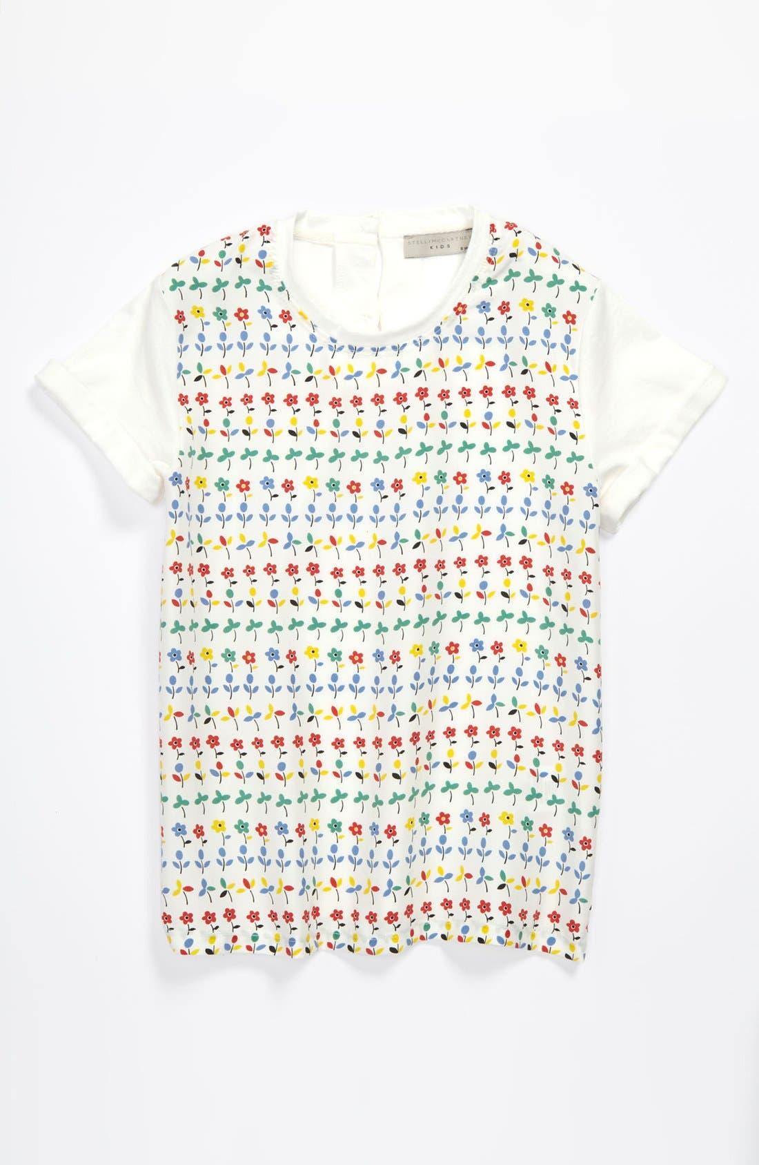 Main Image - Stella McCartney Kids Floral Print Tee (Toddler, Little Girls & Big Girls)
