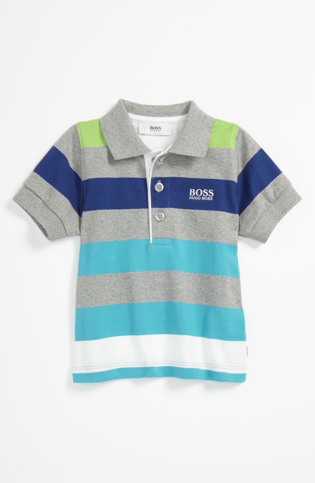 Alternate Image 1 Selected - BOSS Kidswear Stripe Polo (Toddler)