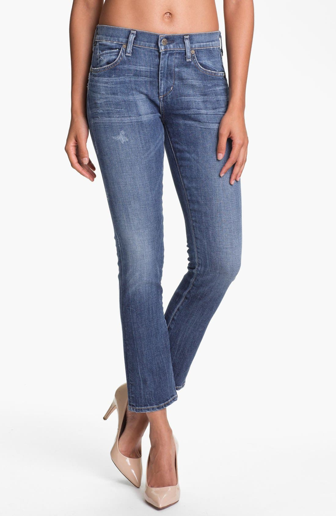 Alternate Image 1 Selected - Citizens of Humanity 'Carlton' High Waist Straight Leg Jeans (Nova)