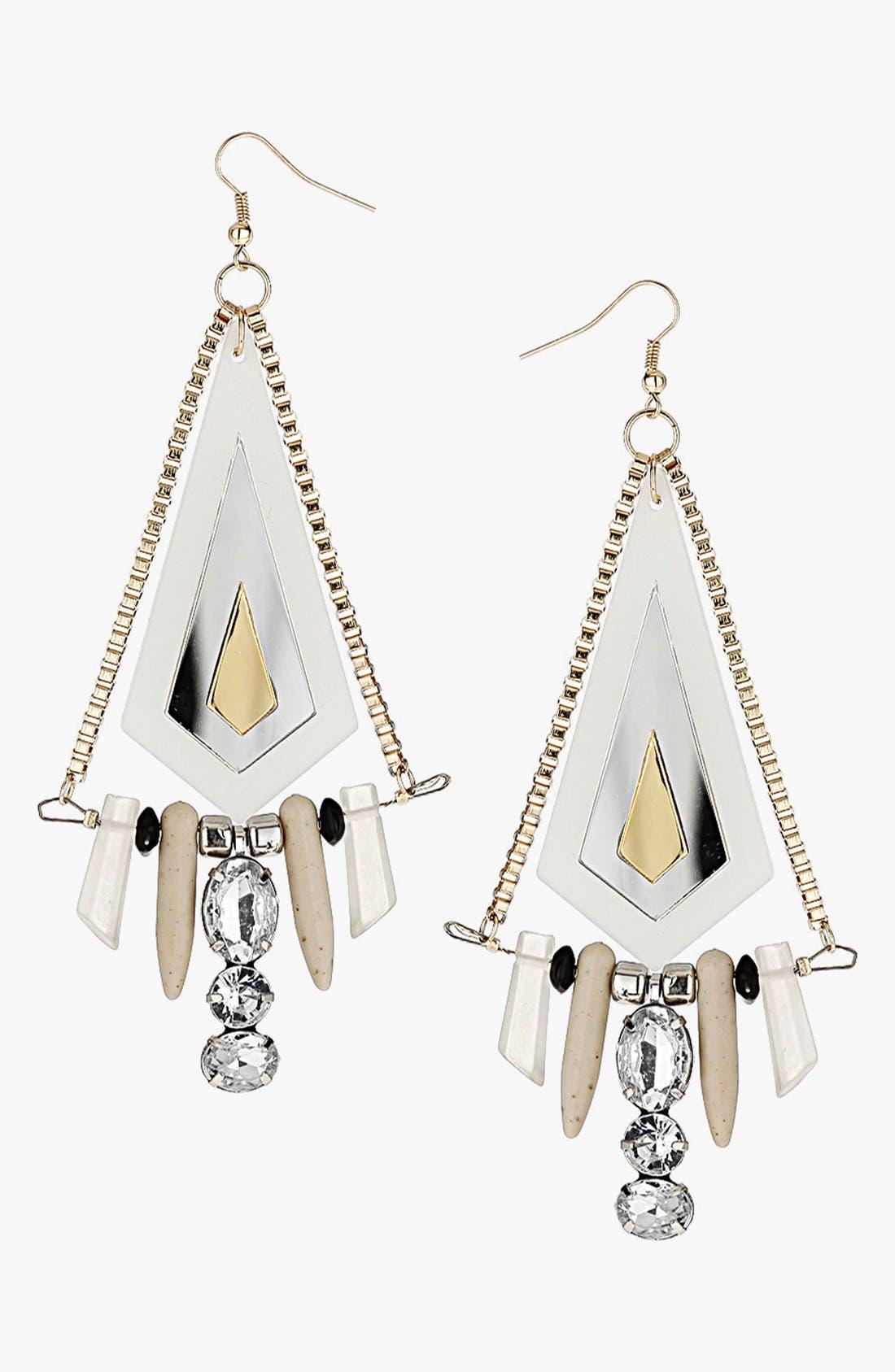 Alternate Image 1 Selected - Topshop Drop Earrings