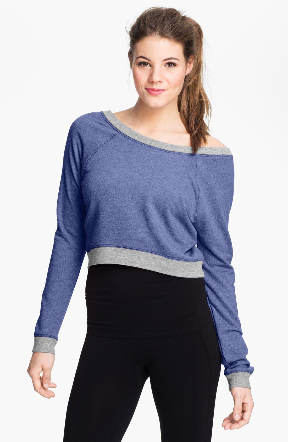 Alternate Image 1 Selected - Unit-Y Cropped Sweatshirt