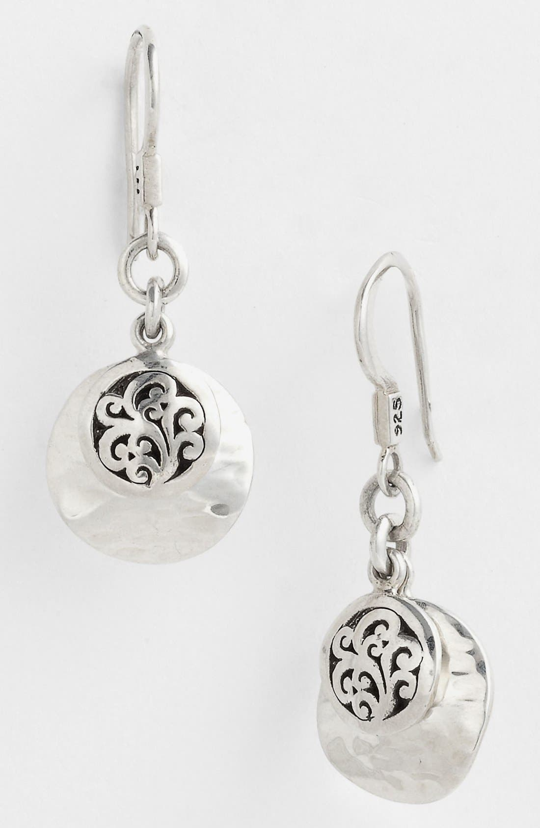 Alternate Image 1 Selected - Lois Hill 'Classy Cutout Waves' Double Disc Drop Earrings