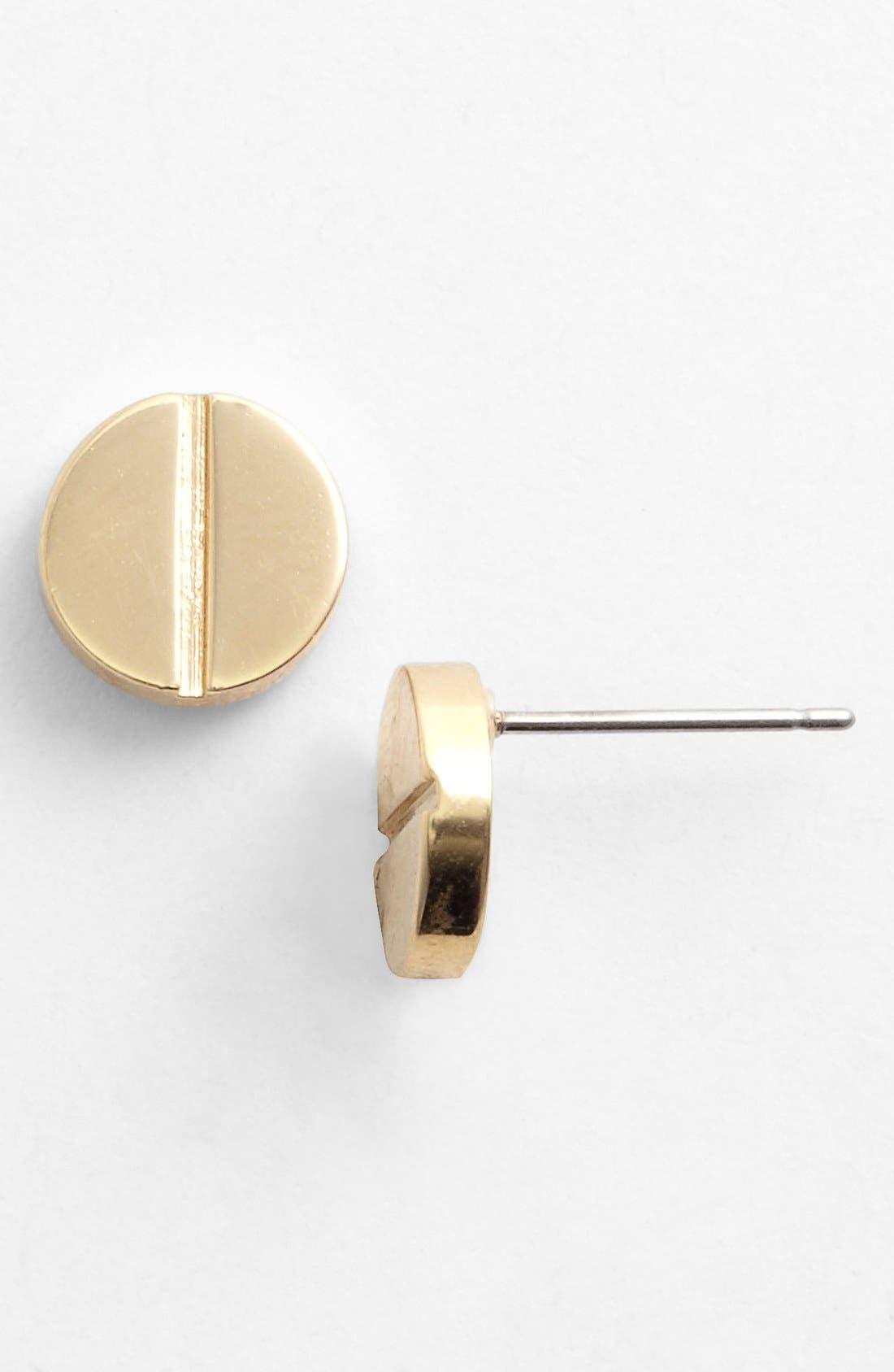 Alternate Image 1 Selected - Tory Burch Screw Rivet Stud Earrings