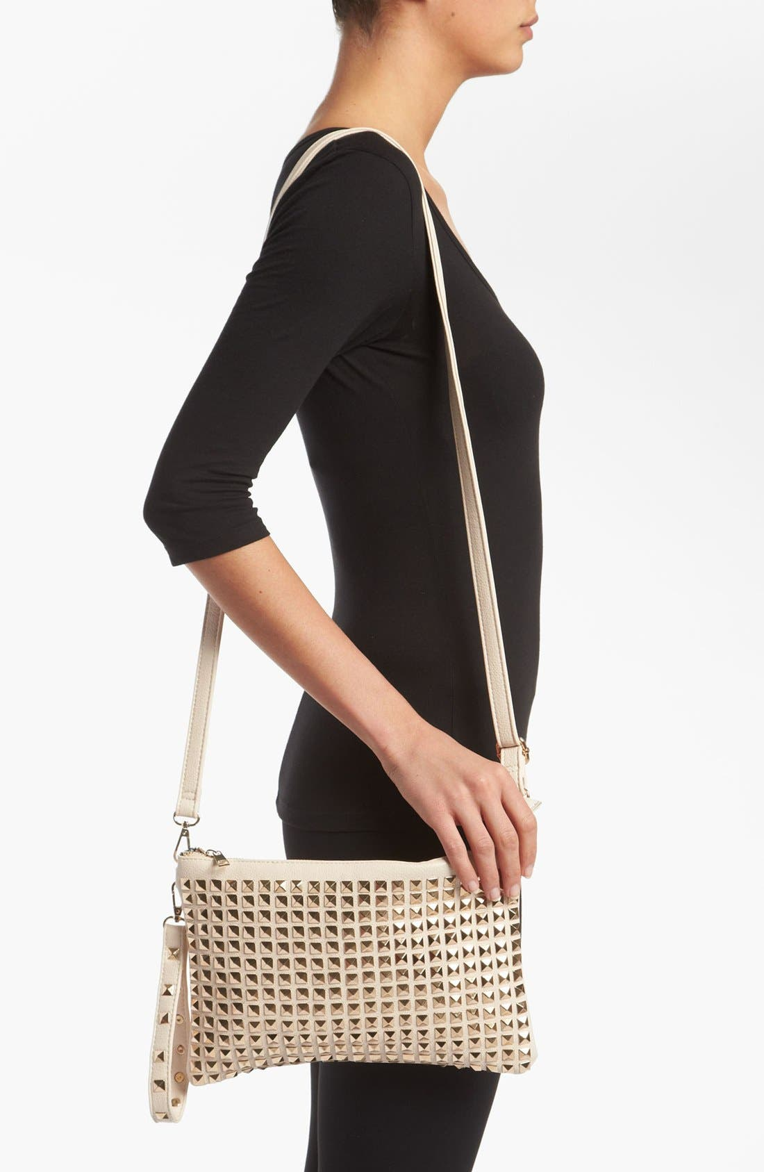Alternate Image 2  - De L'avion Studded Crossbody Clutch