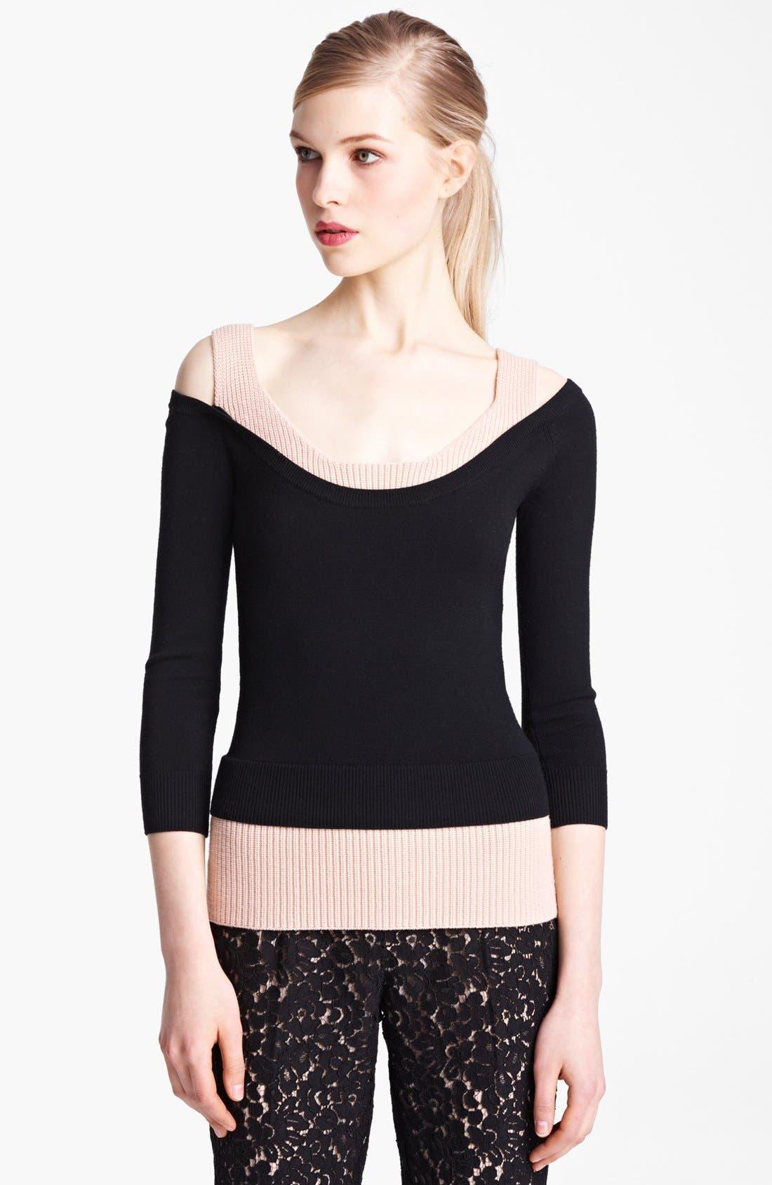 Alternate Image 1 Selected - Michael Kors Layered Merino Wool Sweater