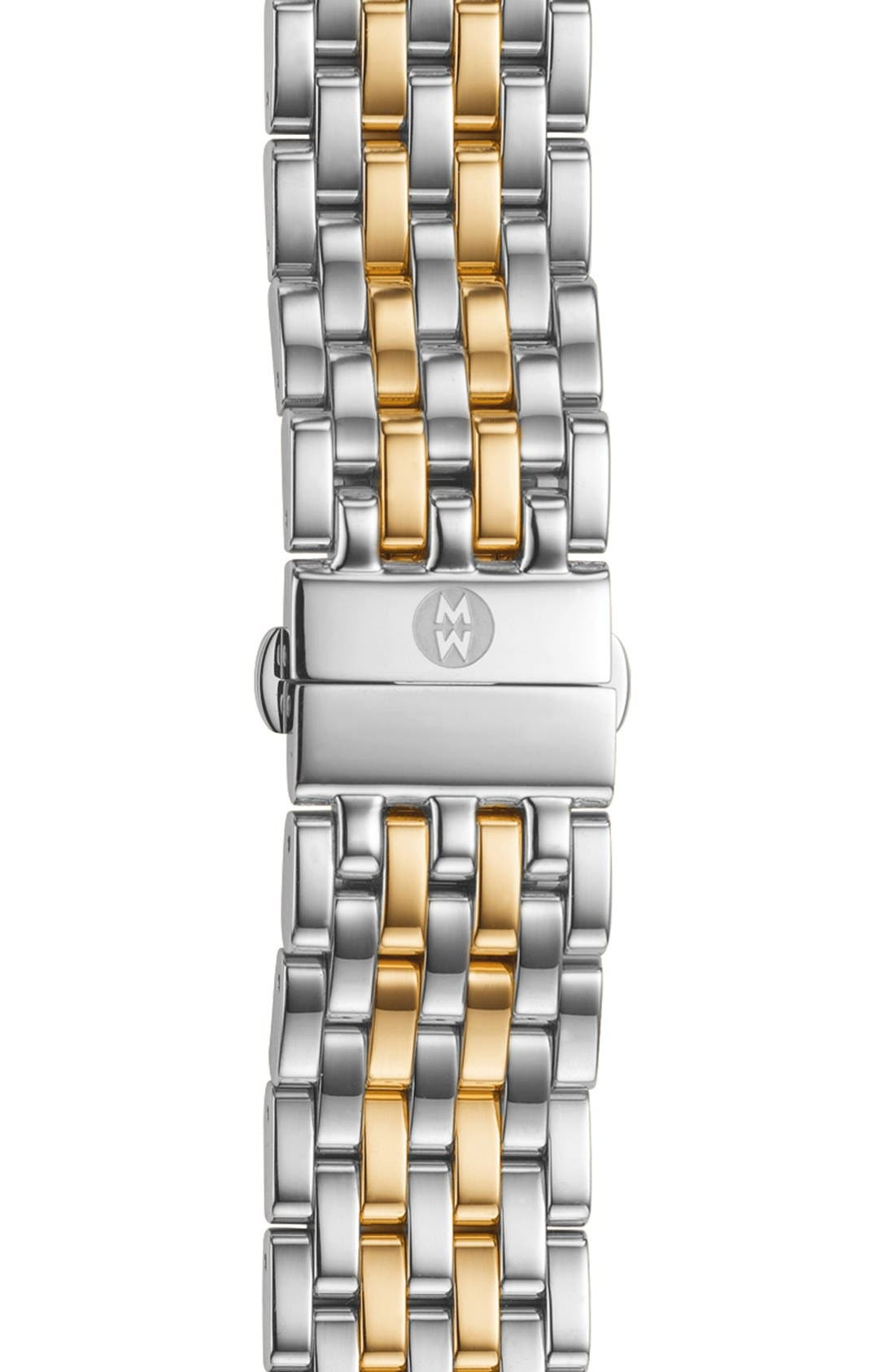 Alternate Image 1 Selected - MICHELE 'Caber' 18mm Stainless Steel Watch Bracelet