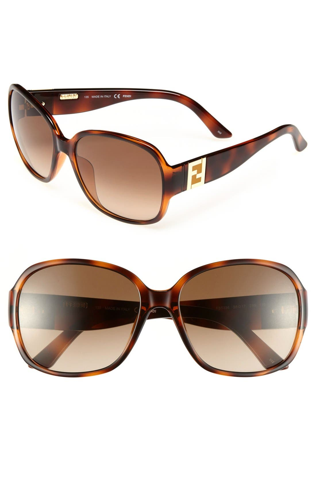 Alternate Image 1 Selected - Fendi 58mm Sunglasses