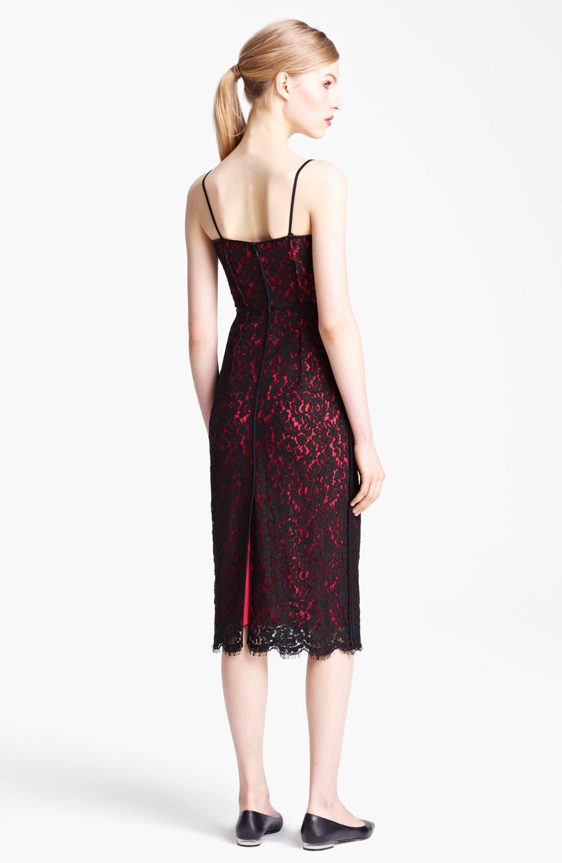Alternate Image 2  - Michael Kors Floral Lace Sheath Dress