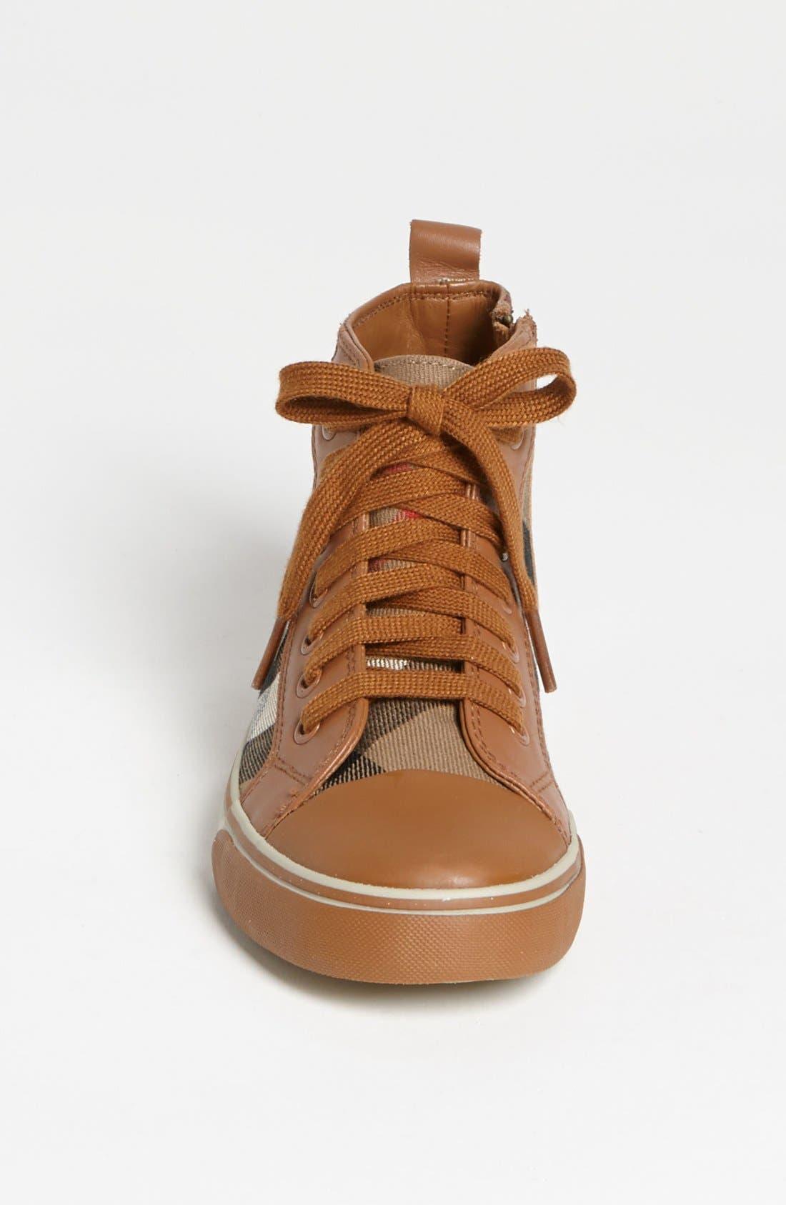 Alternate Image 3  - Burberry 'Tom' High Top Sneaker (Walker, Toddler, Little Kid & Big Kid)