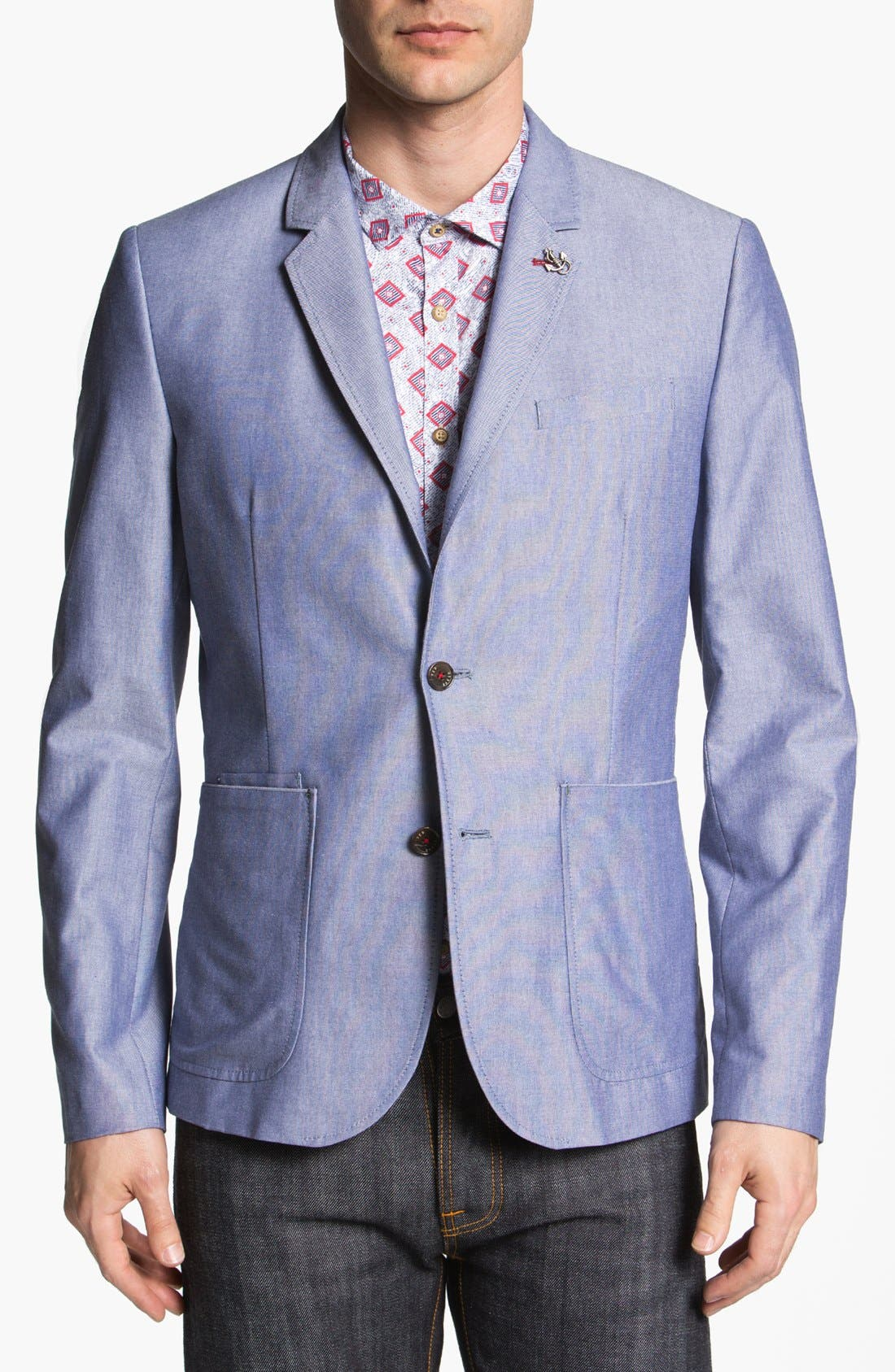 Alternate Image 1 Selected - Ted Baker London 'Pheejack' Cotton Blazer