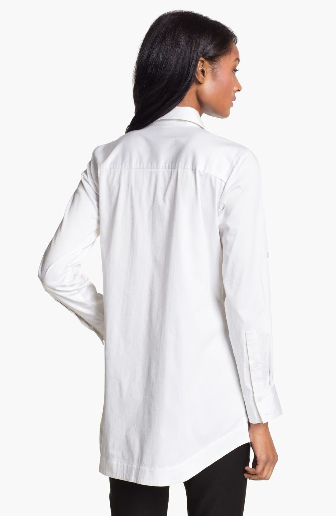 Alternate Image 2  - Pure Amici Roll Sleeve Tunic Shirt