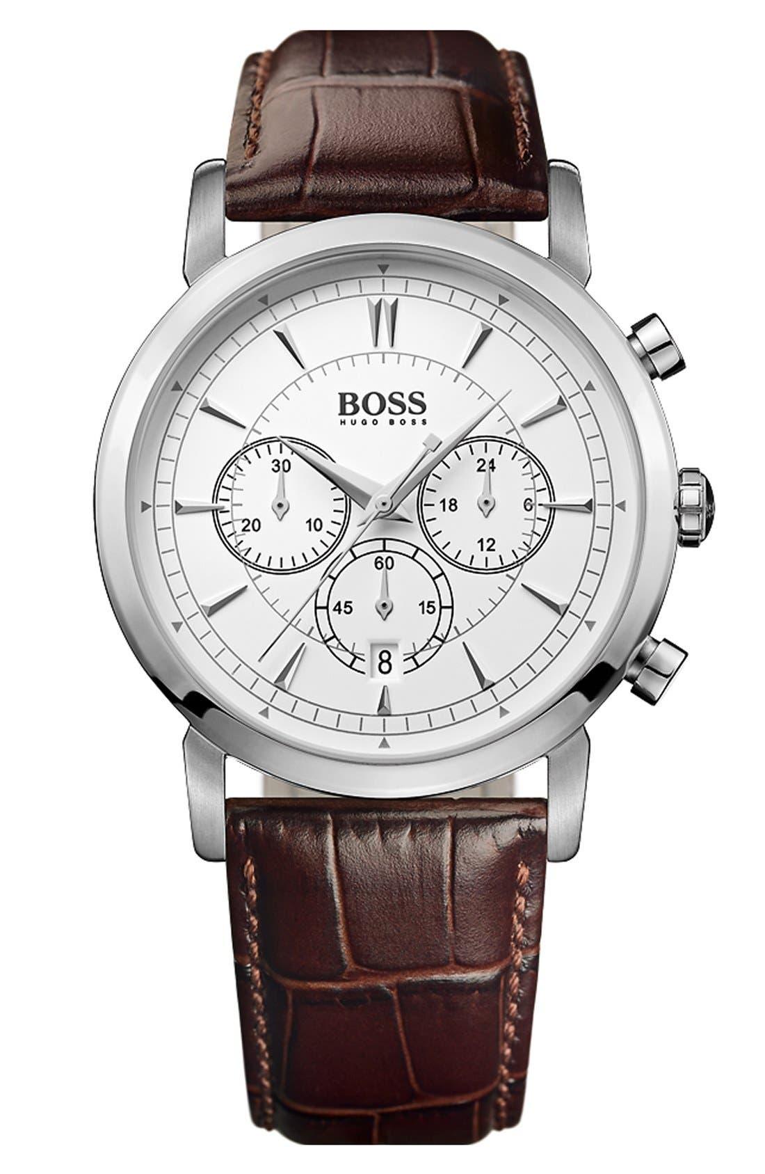 Main Image - BOSS HUGO BOSS 'Classic' Round Chronograph Watch, 40mm